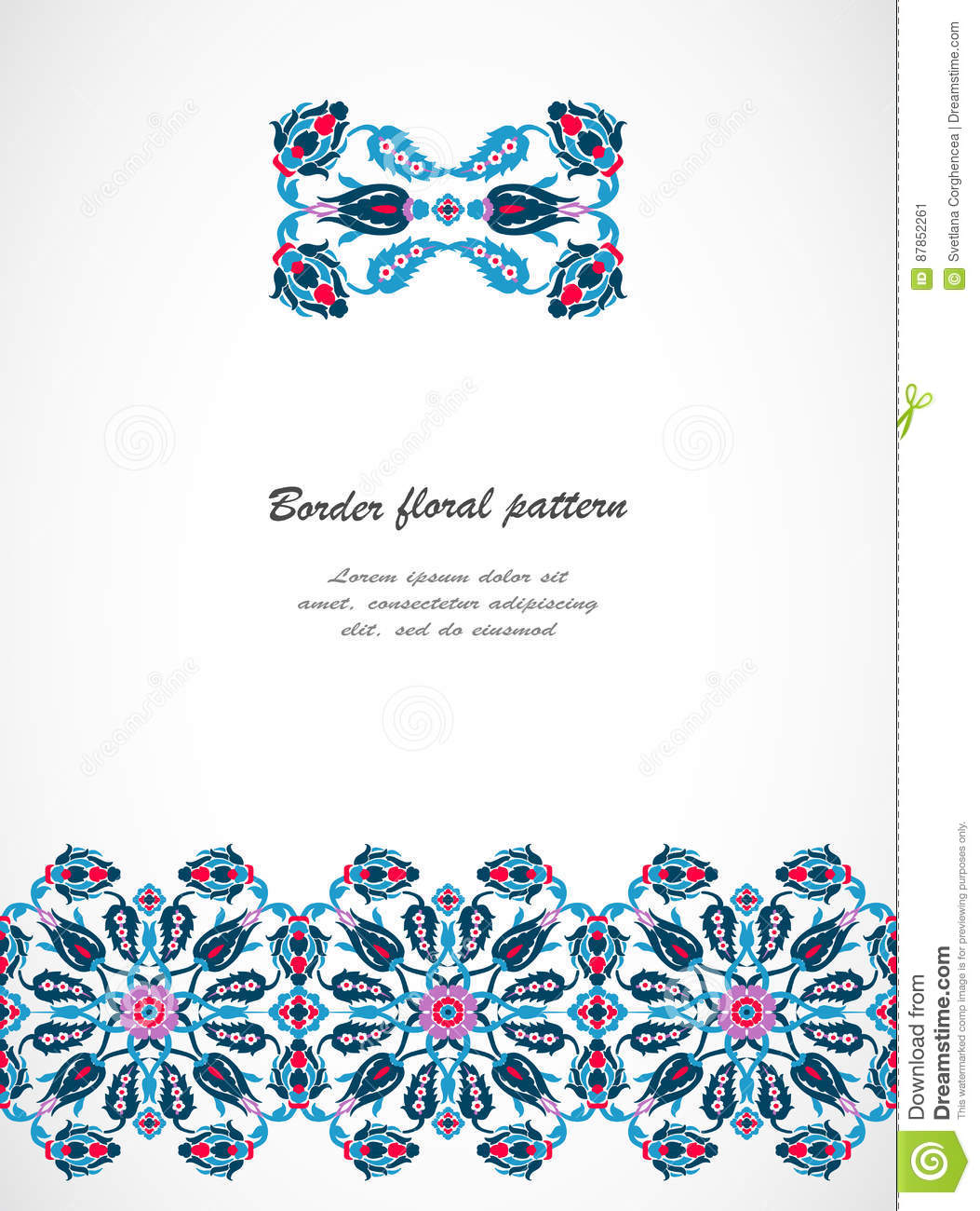 Arabesque vintage seamless border for design template for Arabesque style decoration