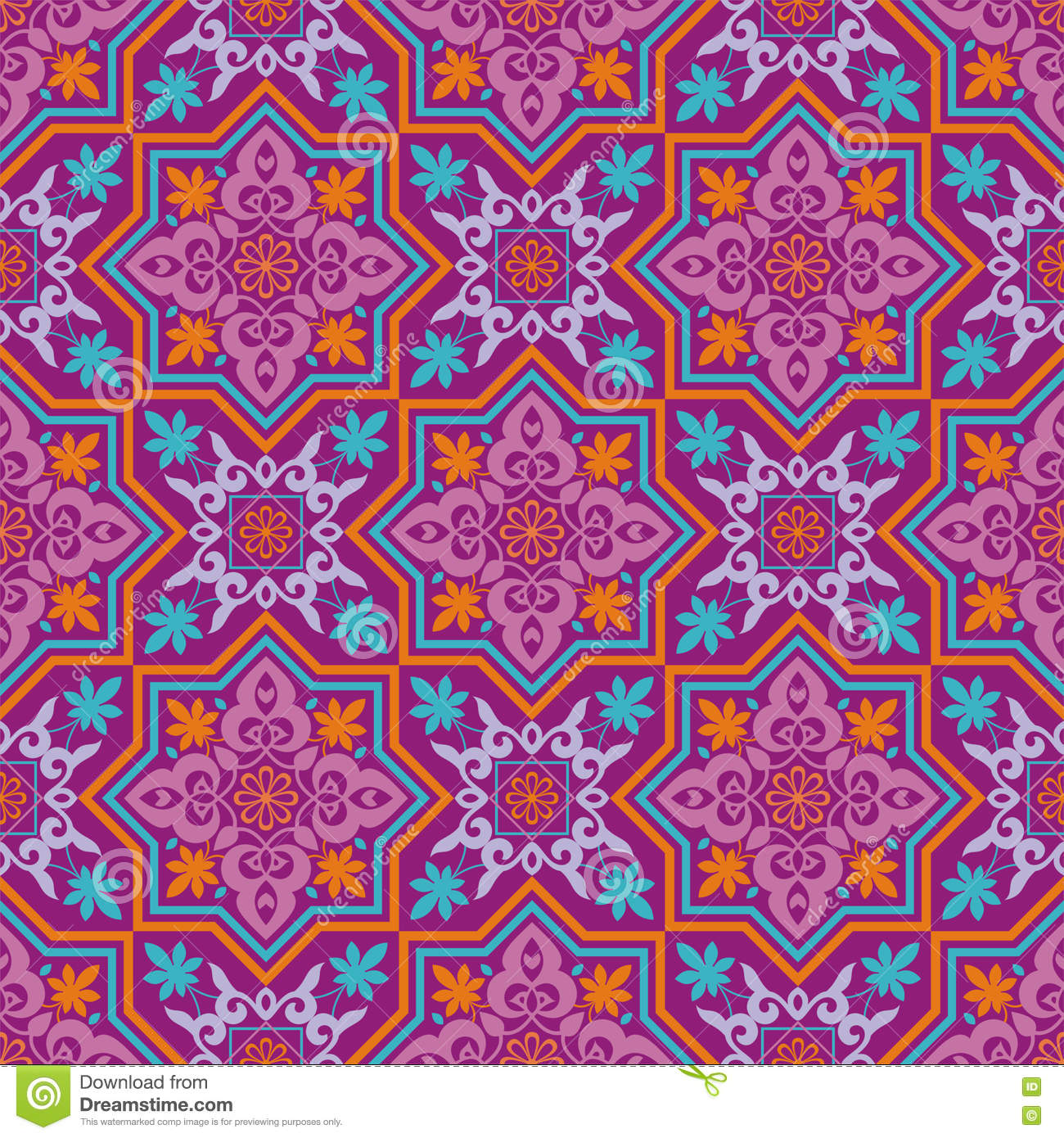 arabesque on a violet background stock vector