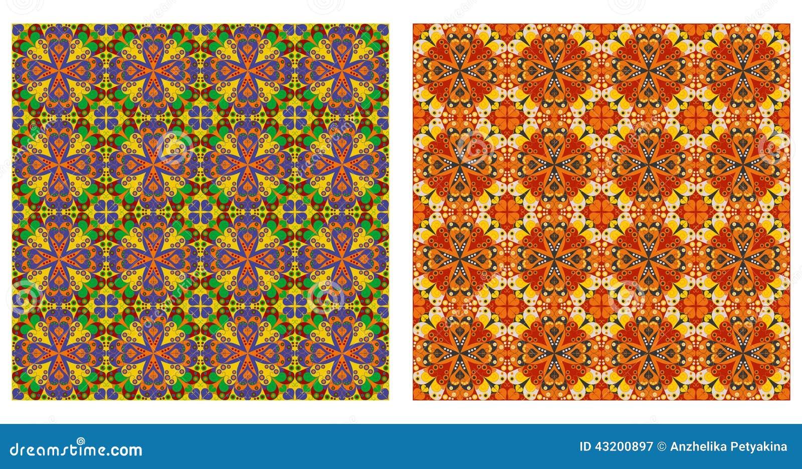 Download Arabesquen Mönstrar Sömlöst Vektor Illustrationer - Illustration av orange, färgrikt: 43200897