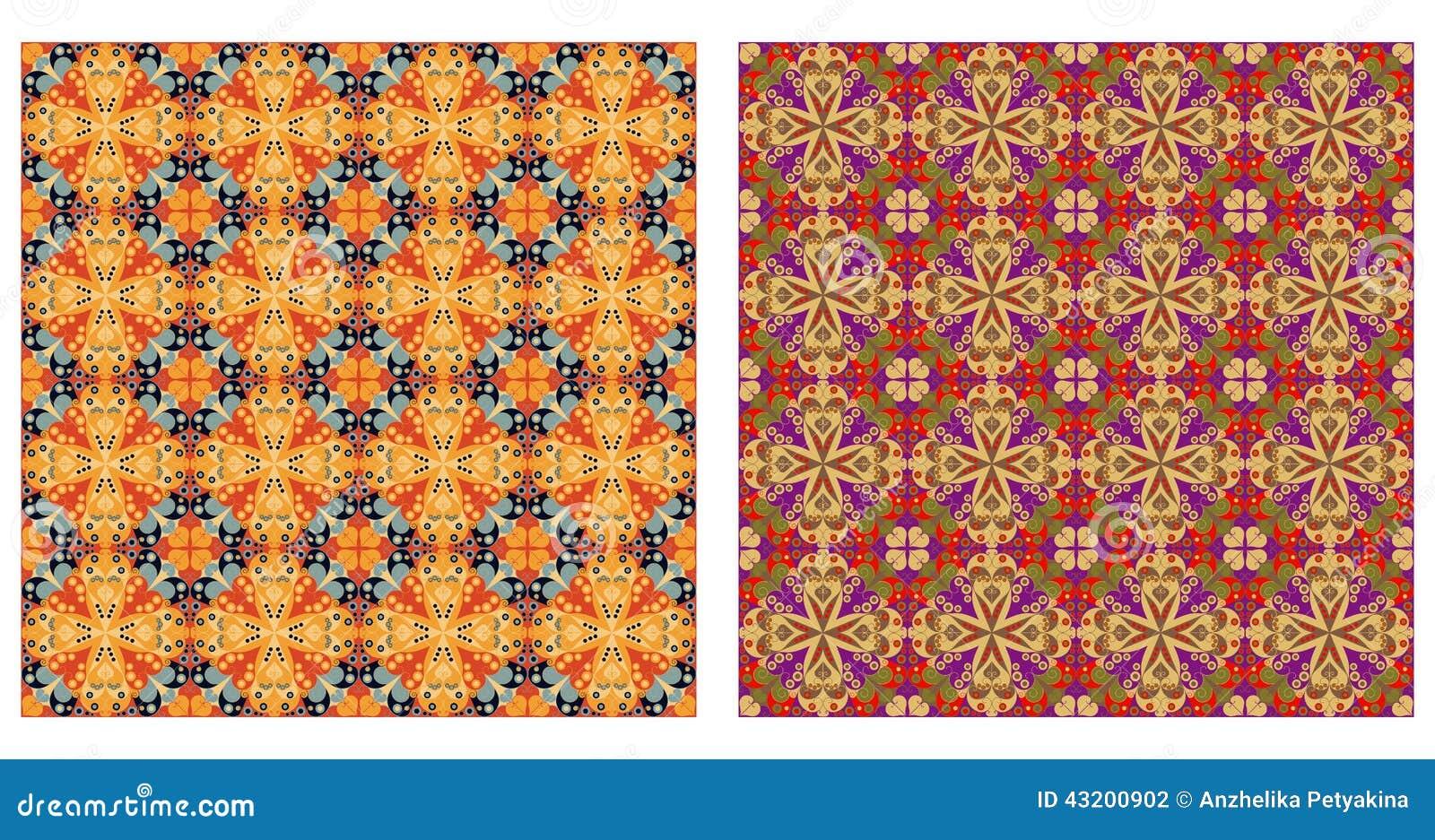 Download Arabesquen Mönstrar Sömlöst Vektor Illustrationer - Illustration av design, olikt: 43200902