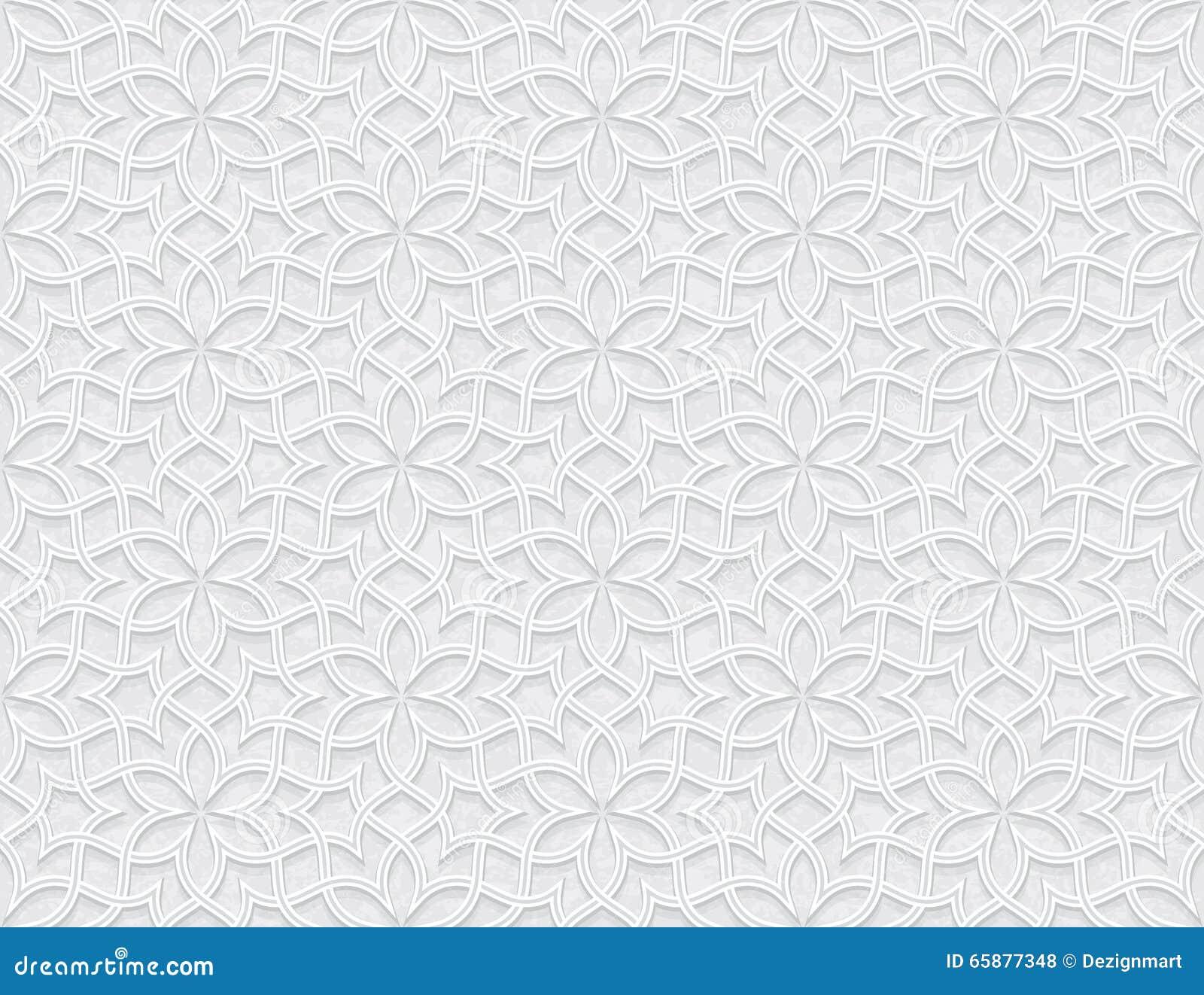Arabesquestjärnamodell med Grungeljus Grey Background