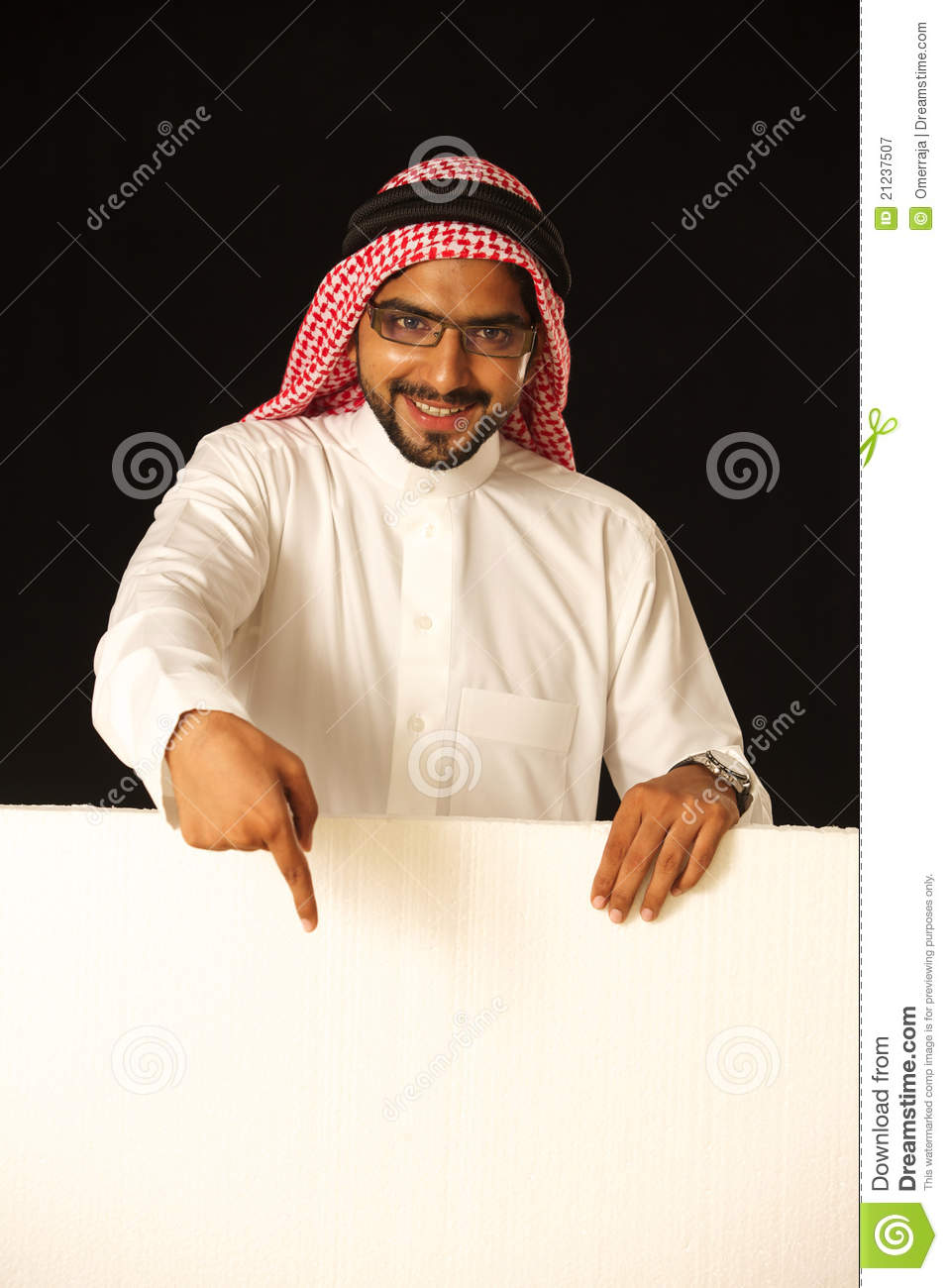 Arabi Male Model With Ad Space. Royalty Free Stock ... Positive Space Photography