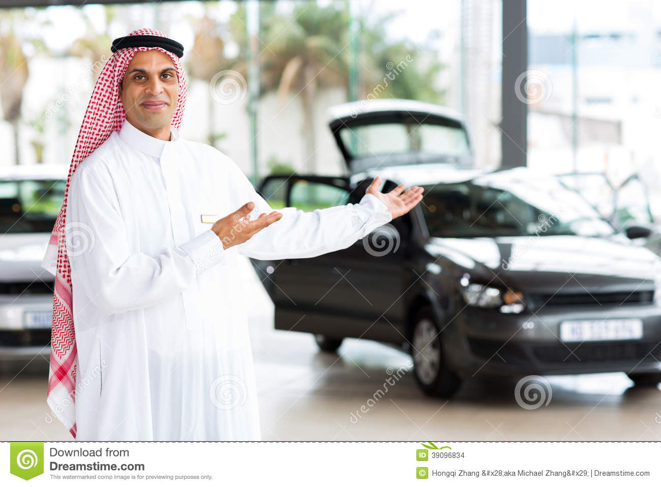 arabian car salesman stock photo image of clothes aged 39096834. Black Bedroom Furniture Sets. Home Design Ideas