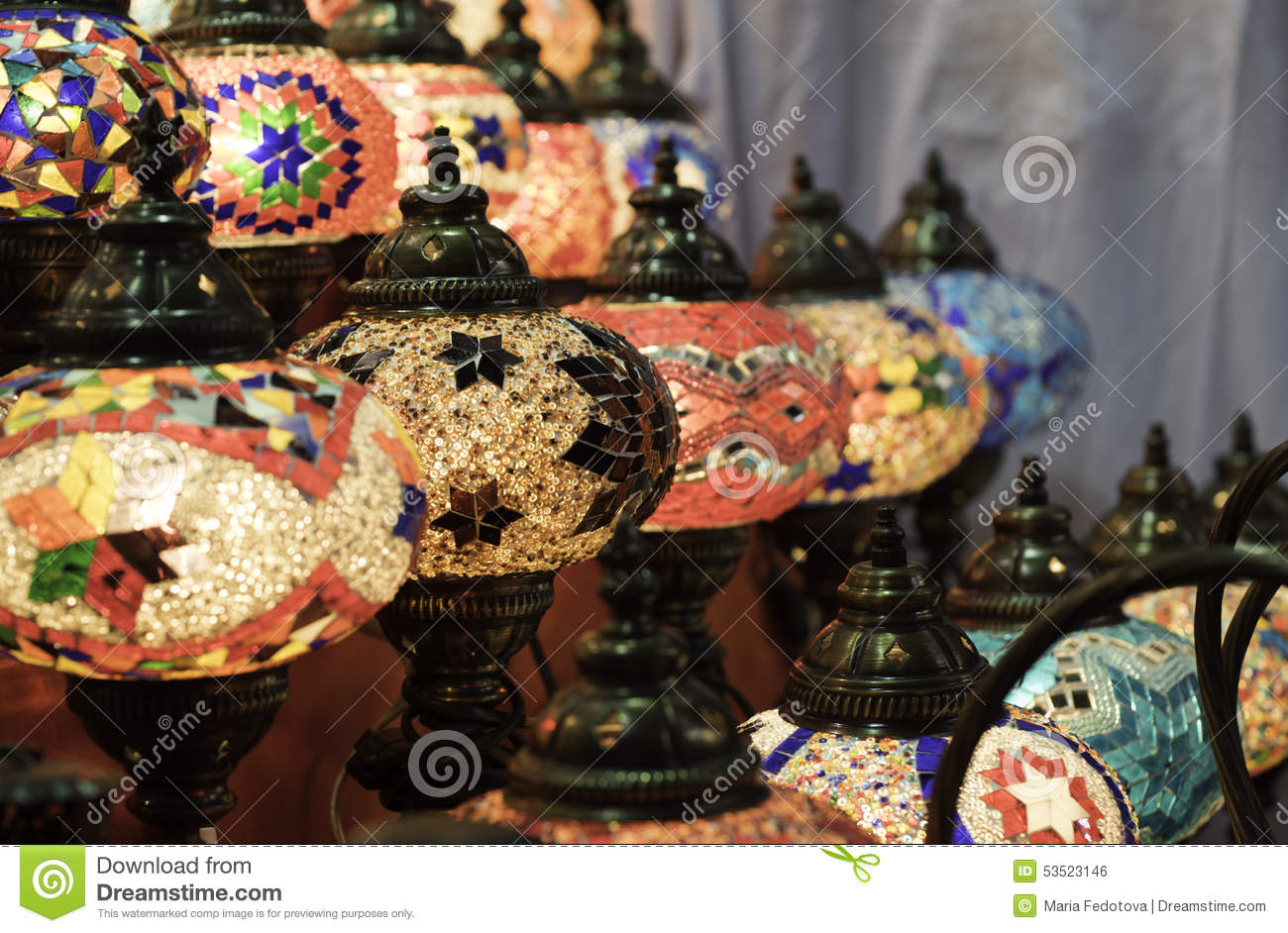 Arabian Lamp stock photo. Image of multicolored, souvenirs - 53523146 for Traditional Arabic Lamp  75tgx