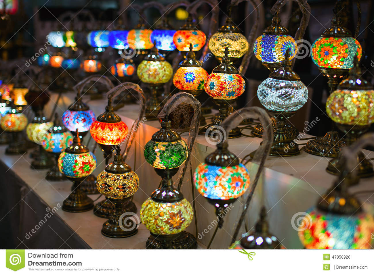 Arabian Lamps Stock Photo - Image: 47850926