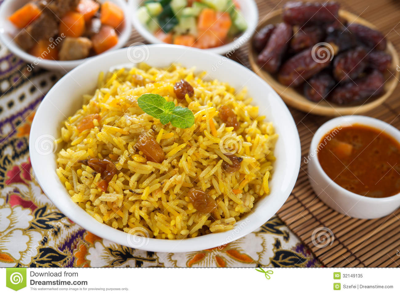 Arabian rice stock image image of arabic aromatic lamb for Arabic cuisine dishes