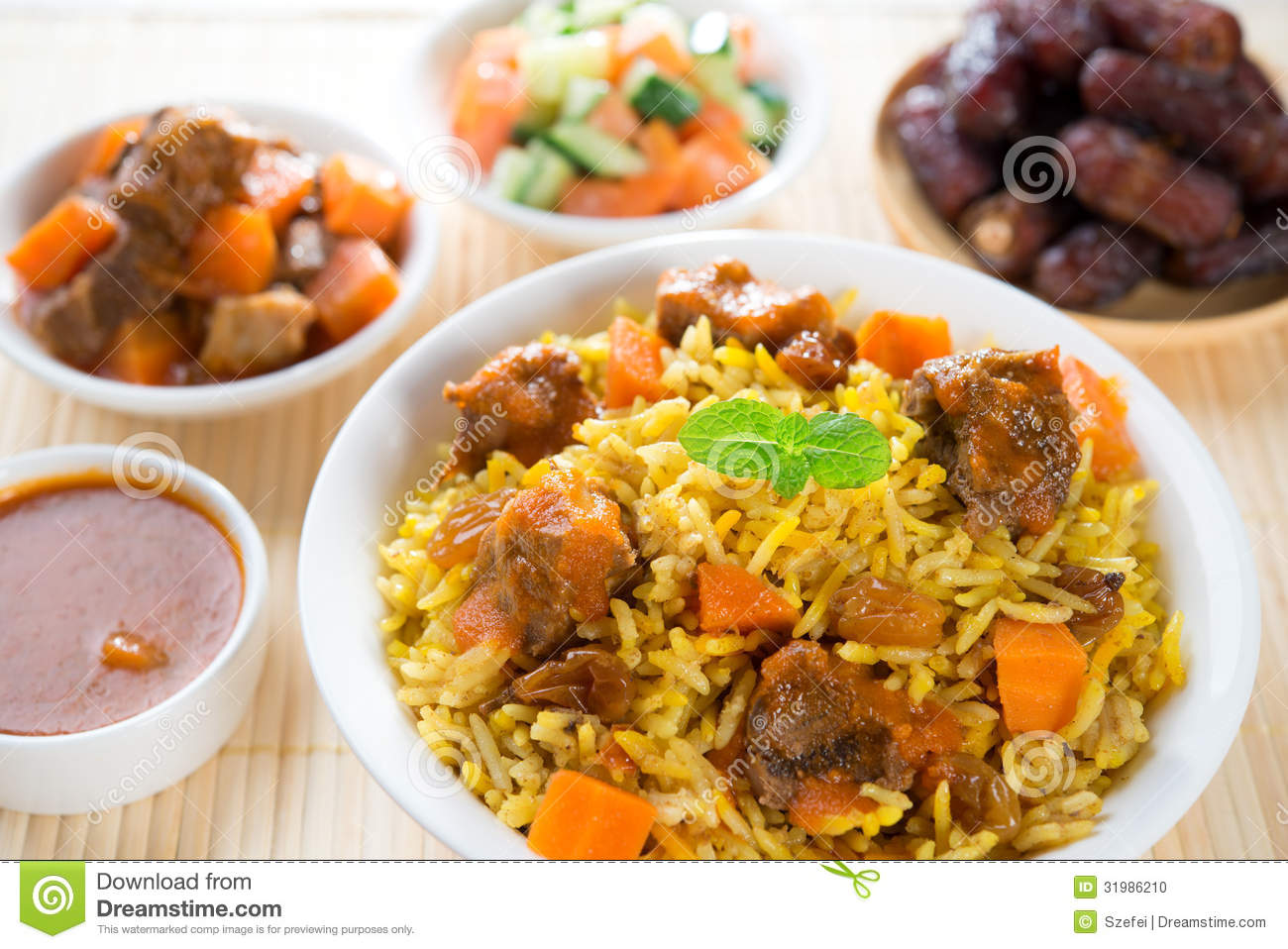 Arabian rice stock photo image of arab gourmet pilaf for Arabic cuisine dishes