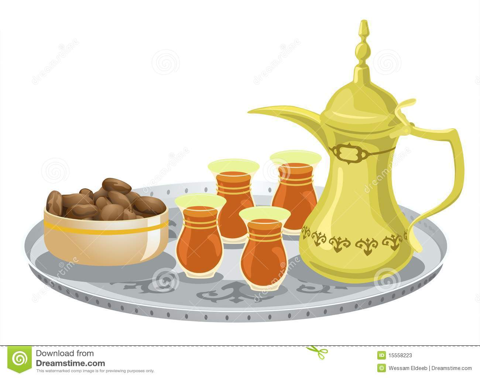 Arabian Tea Set With Dates 1