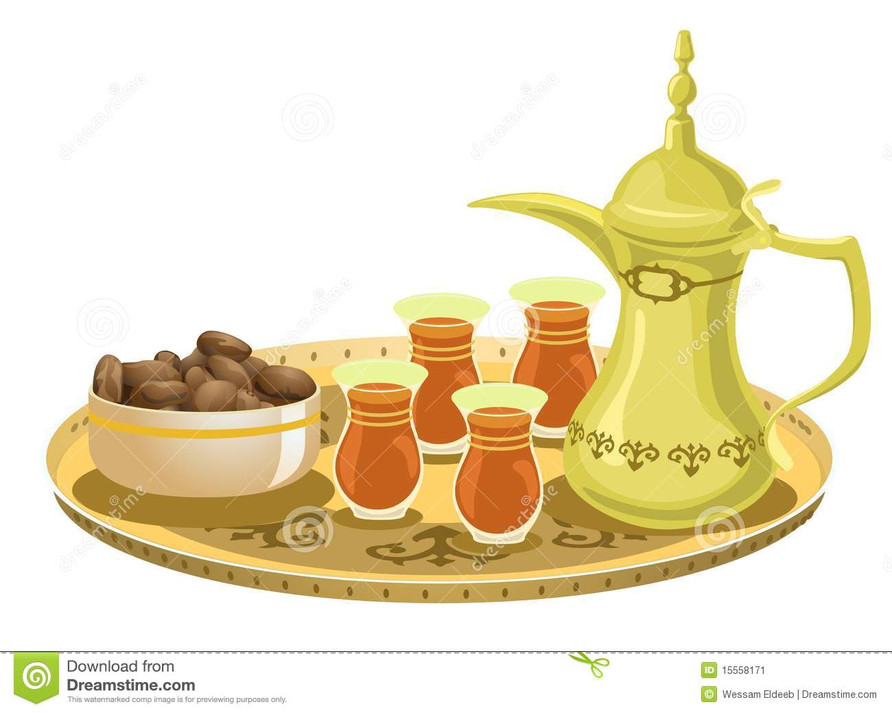 Arabian Tea Set With Dates 2 Stock Image Image 15558171