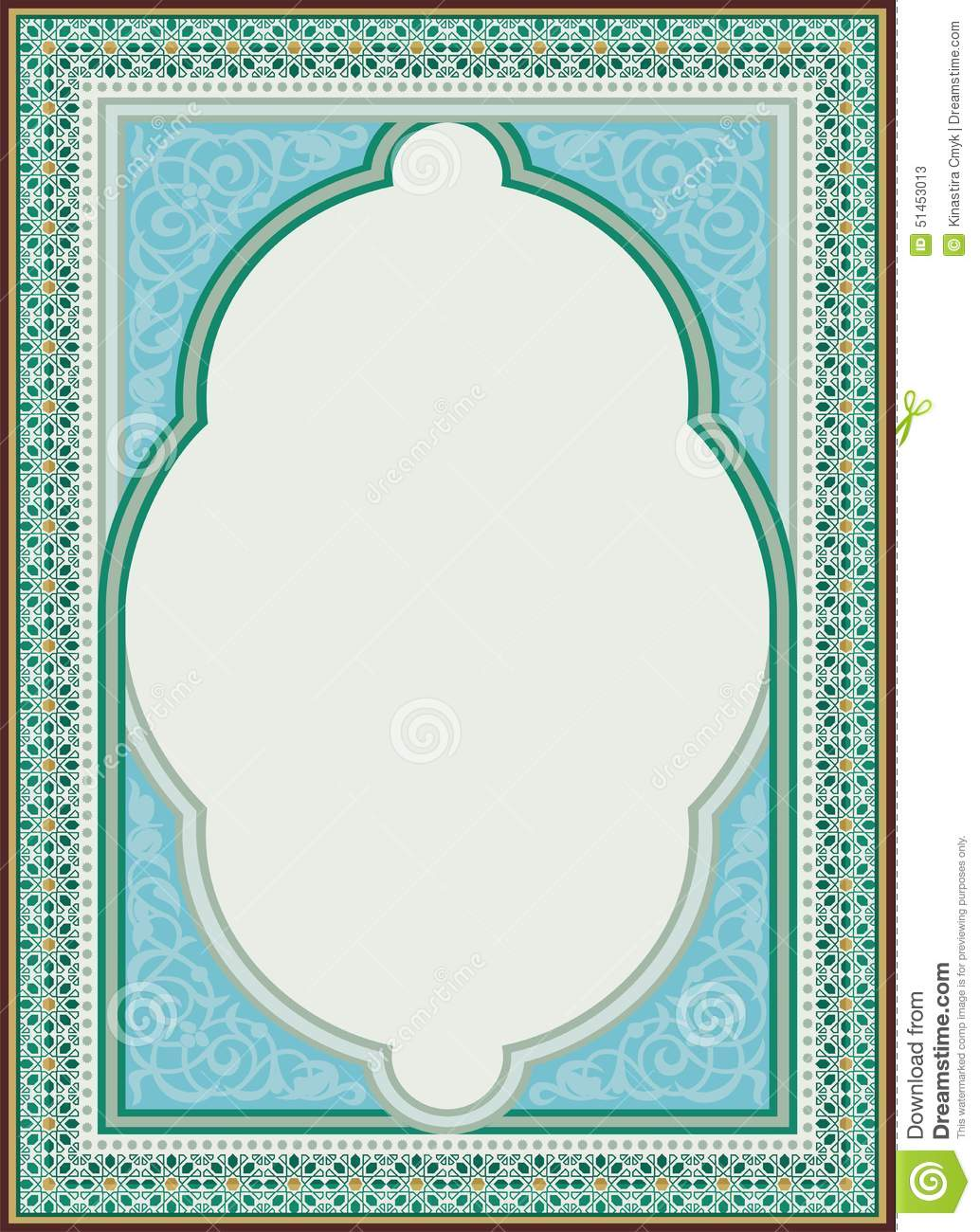Arabic Art Border Frame Design Stock Illustration Image