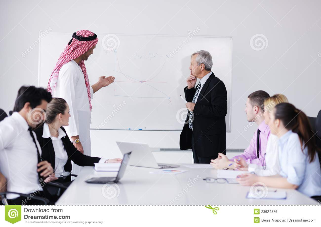 Arabic Business Man At Meeting Stock Photo Image Of Happy