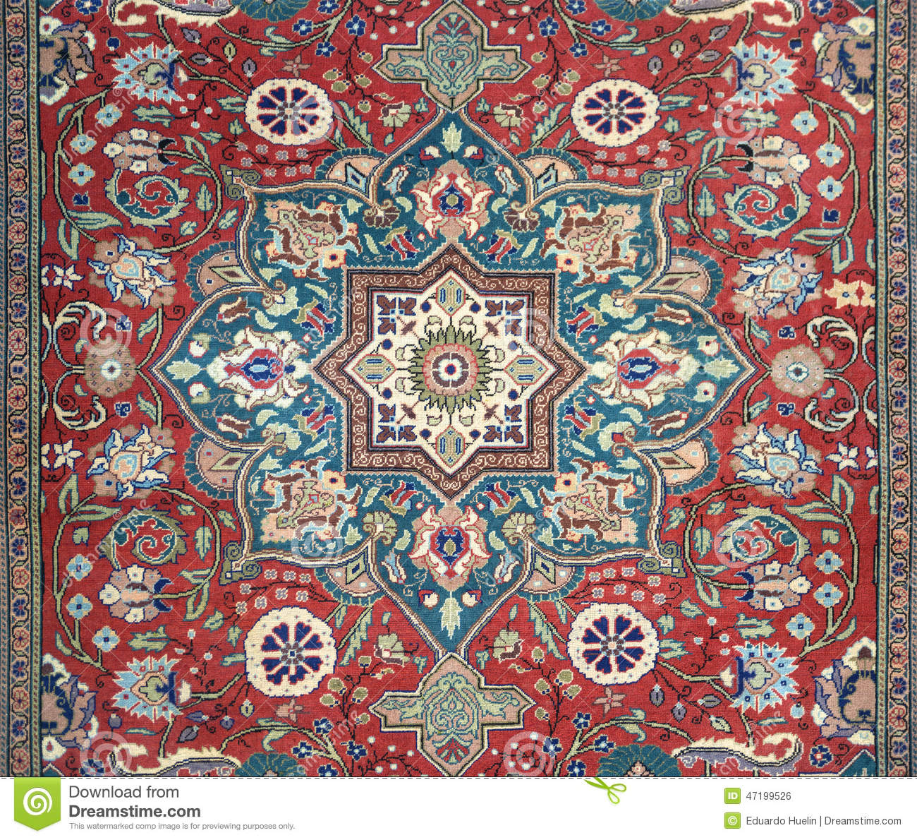 Arabic Carpet Texture Background Stock Photo Image 47199526