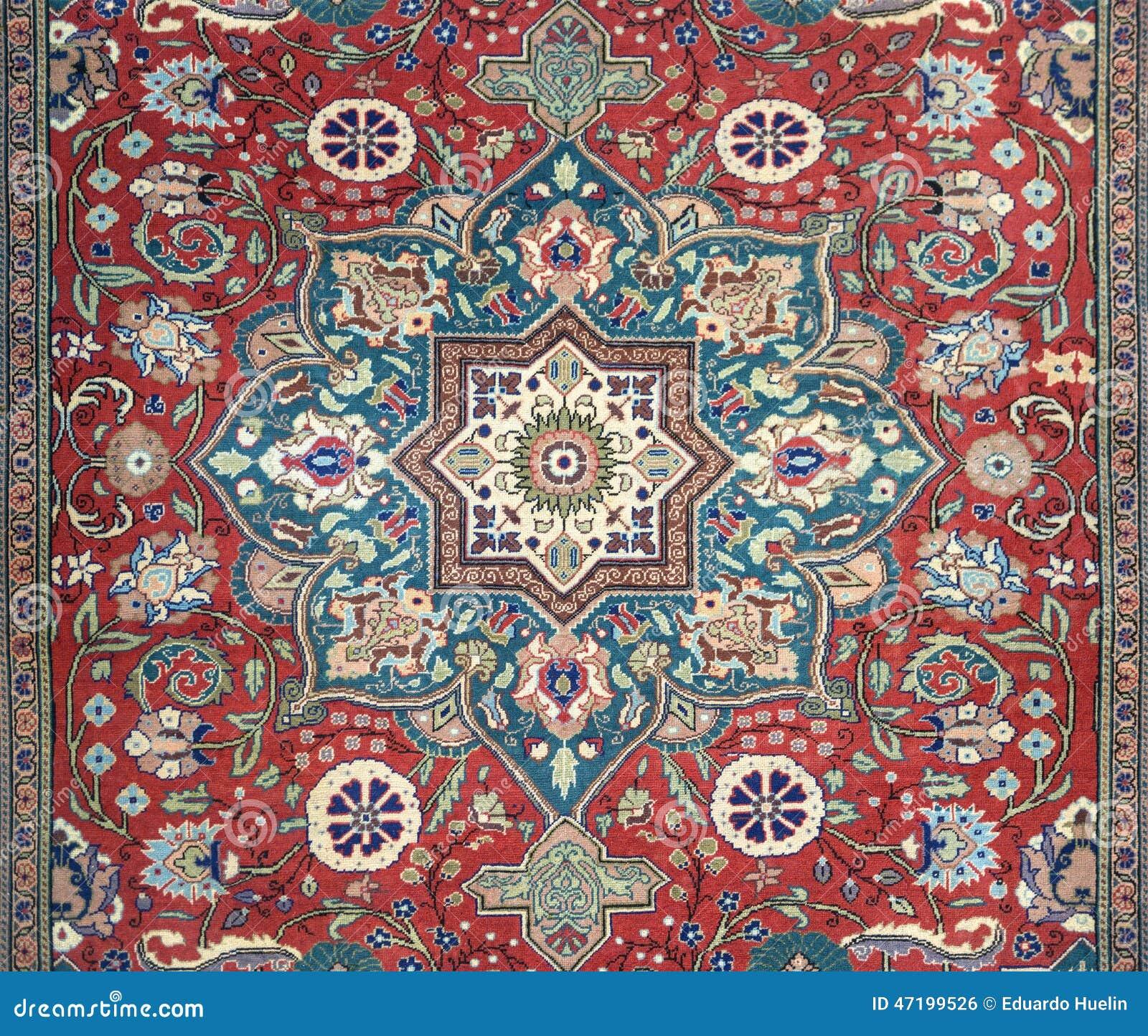 Arabic Carpet Texture Background Stock Photo Image 47199526