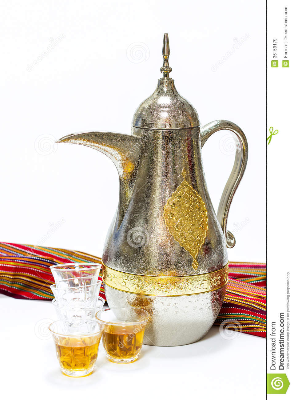 Arabic Coffee Pot And Glasses Stock Image Image 36159179