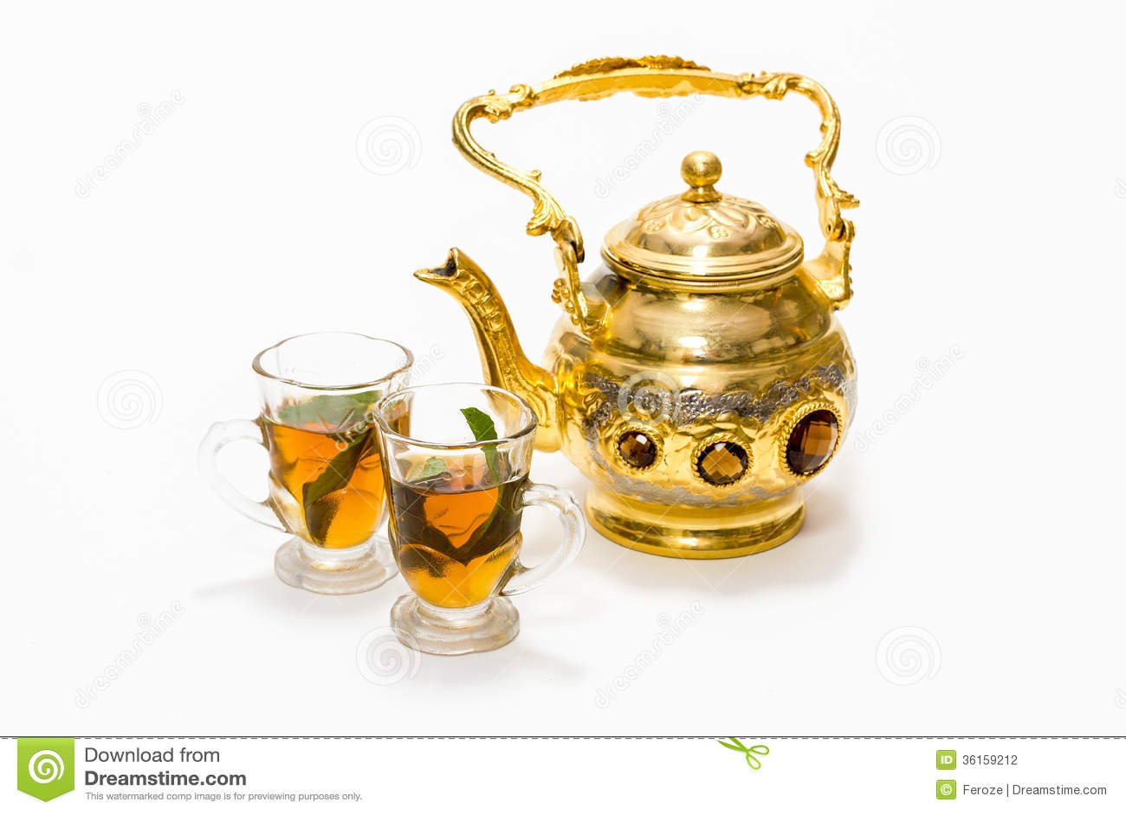 Arabic Coffee Pot And Glasses Stock Photo Image 36159212