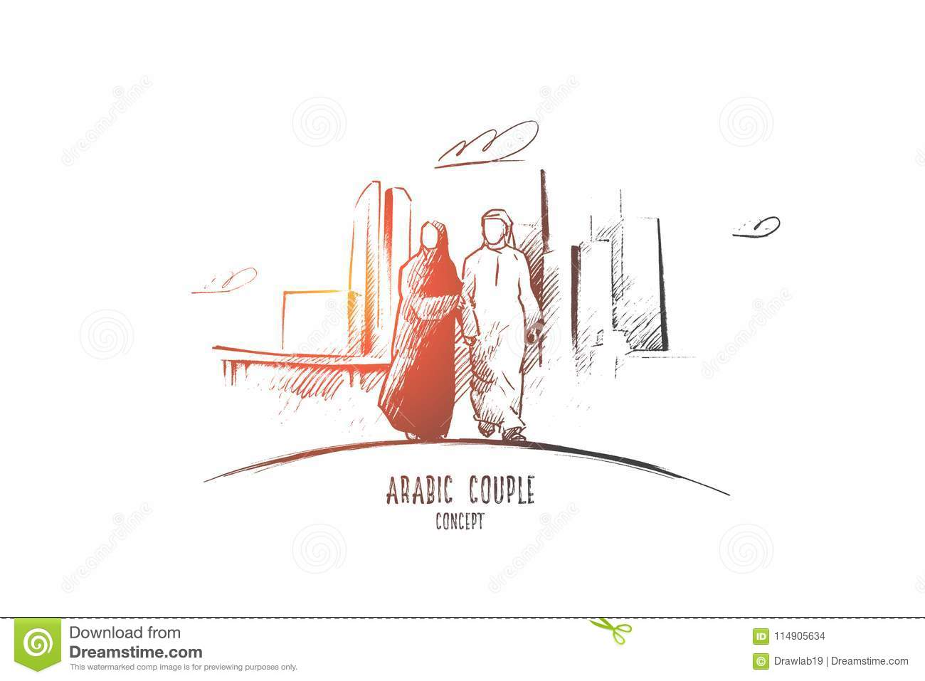 Arabic Couple Concept Hand Drawn Isolated Vector Stock. Arabic Couple Concept Hand Drawn Isolated Vector. Wiring. A Diagram Of A House Arabic At Scoala.co