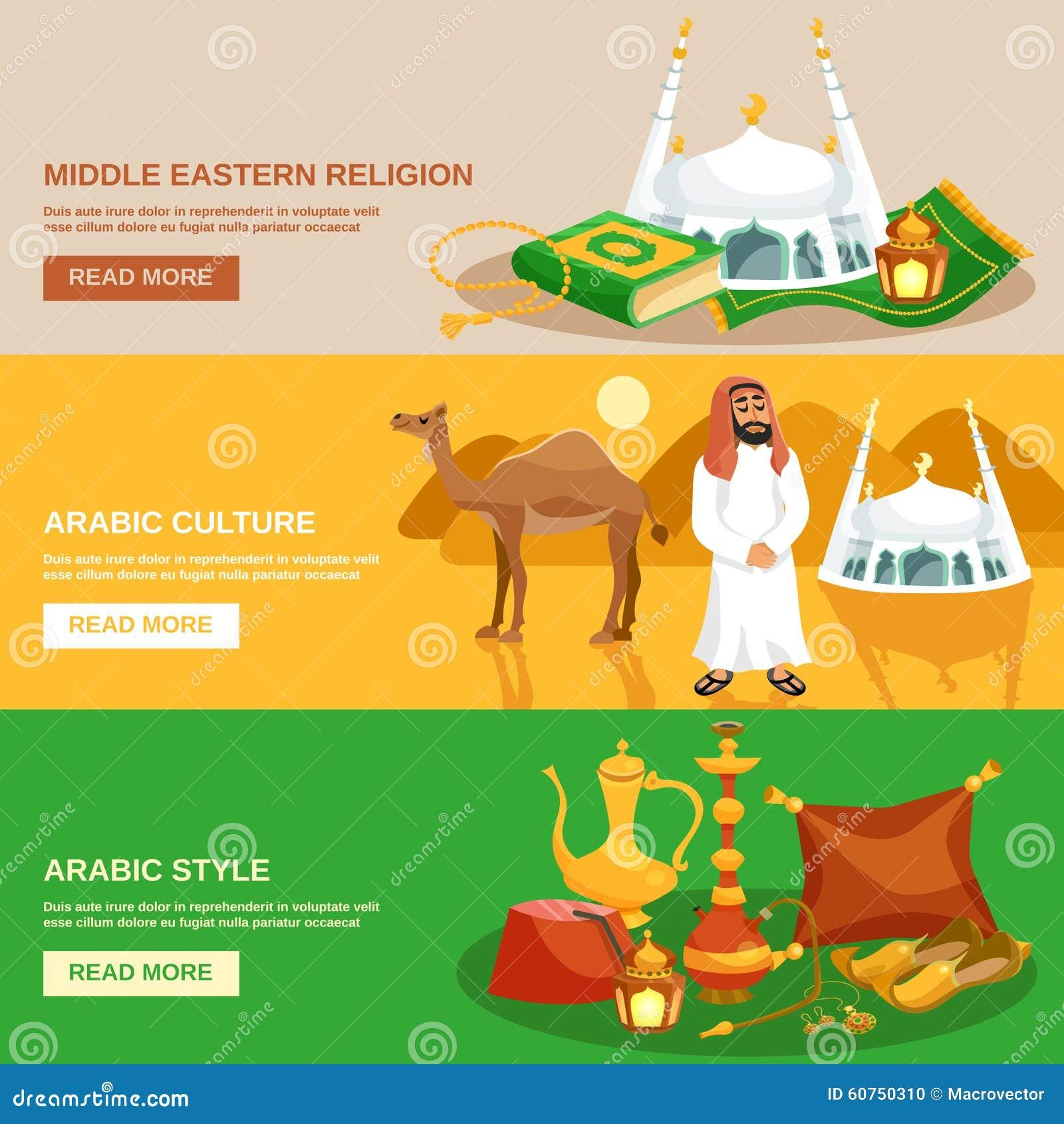 Arabic Culture Banner Set Stock Vector - Image: 60750310