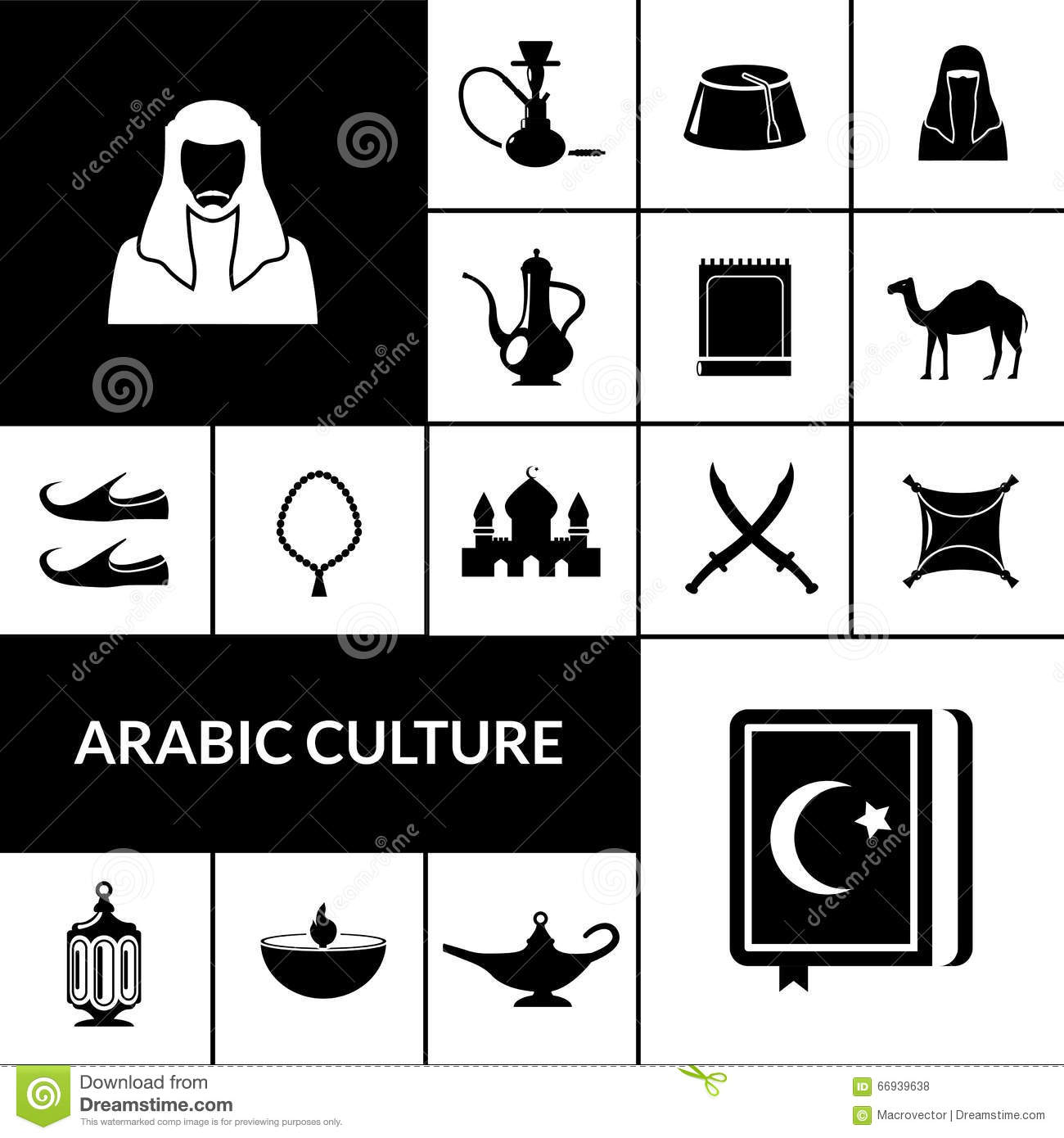 Arabic culture black icons set stock vector illustration of prayer arabic culture black icons set buycottarizona Gallery
