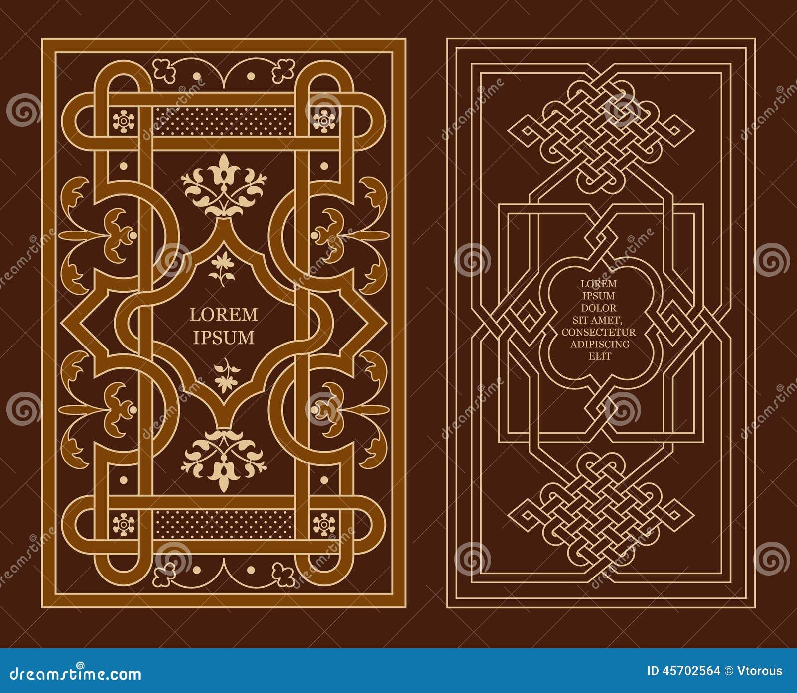 Arabic Book Cover Design Vector : Arabic decoration stock photo image