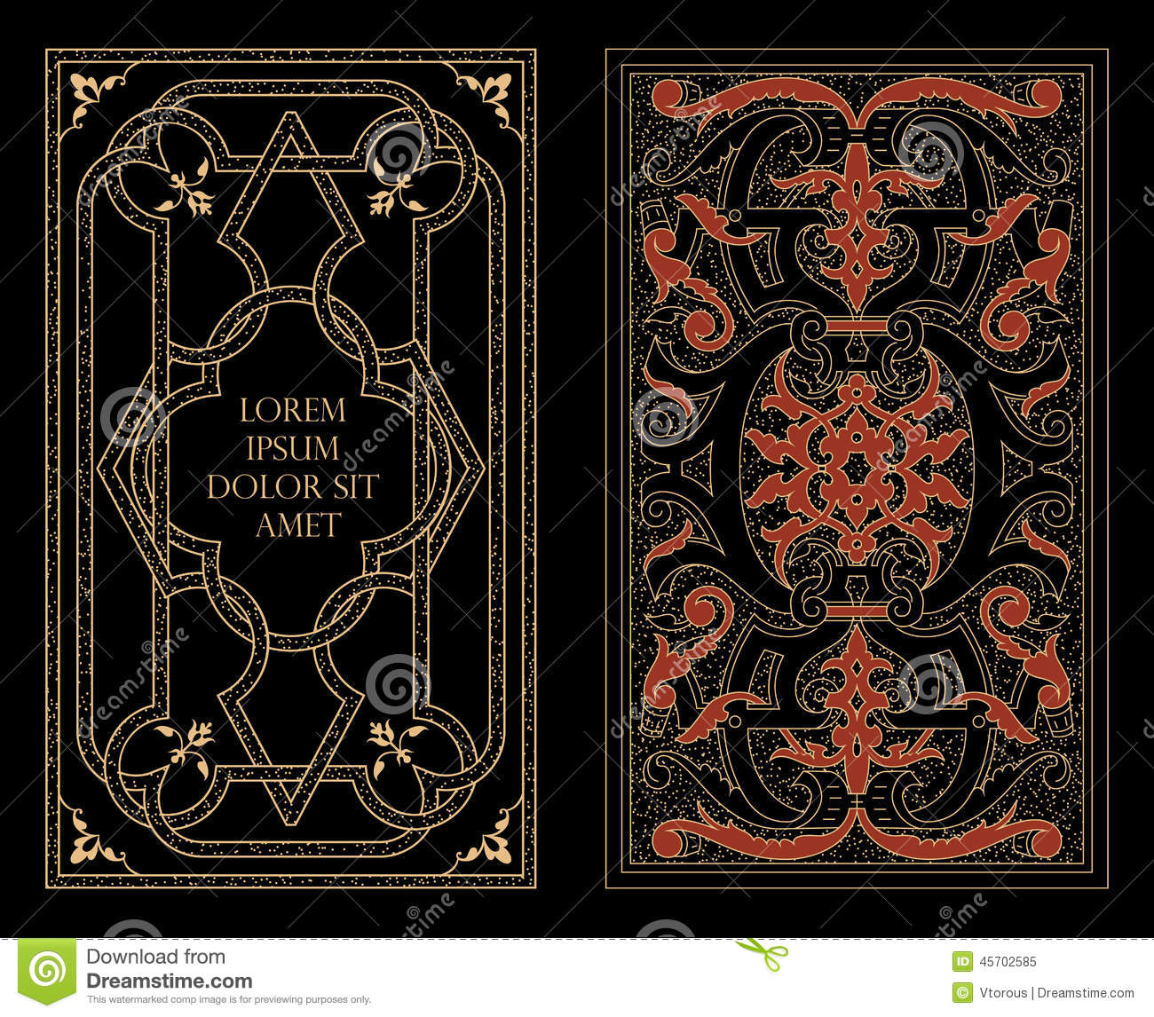 Cool Book Cover Vector : Arabic decoration stock image of antique pattern