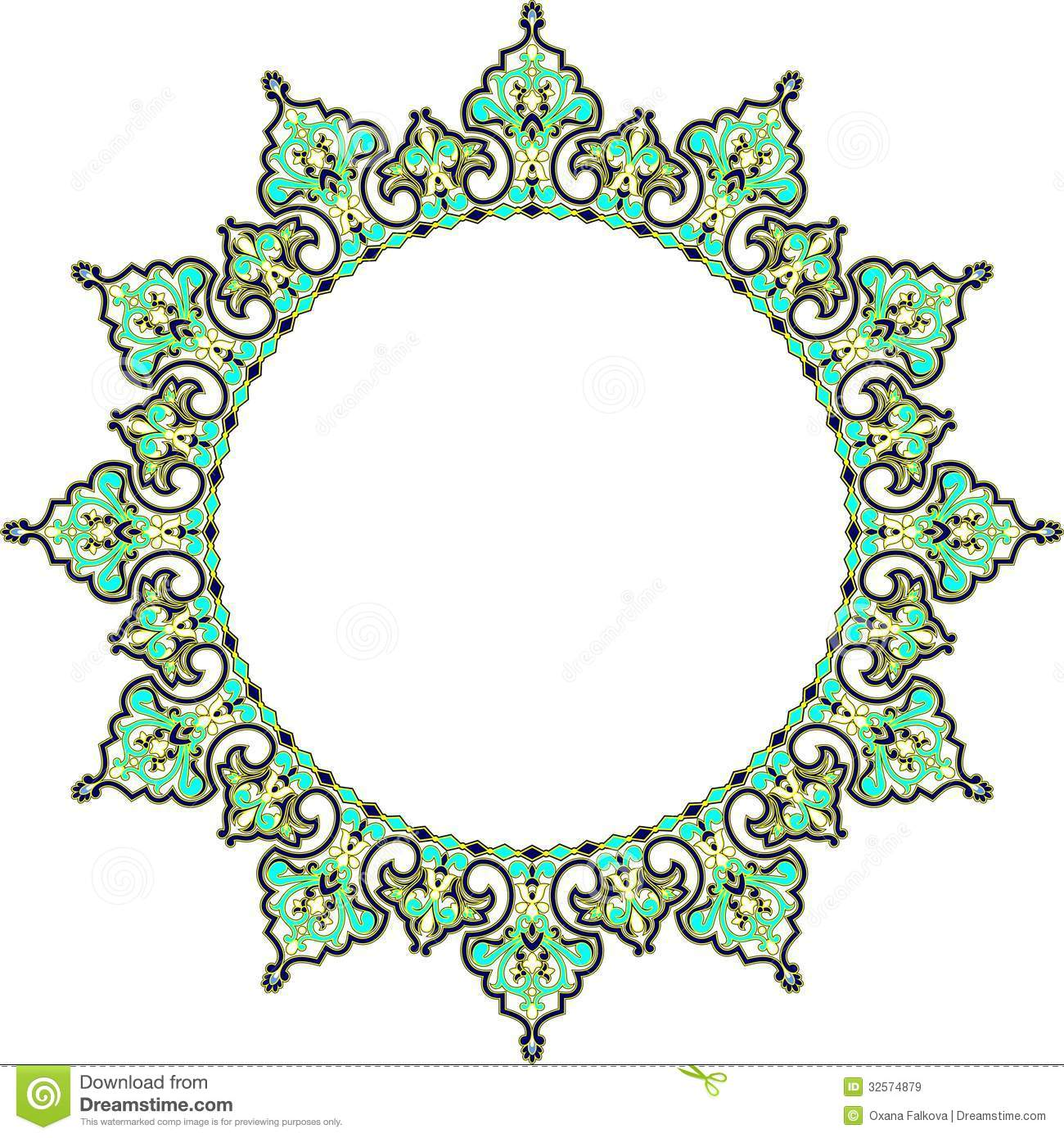 Arabic frame stock vector illustration of stylized black 32574879 arabic frame thecheapjerseys Image collections