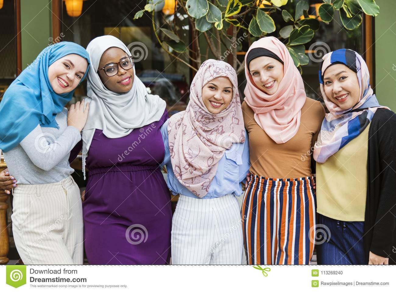 Arabic Friends Meeting Up After Work Stock Photo - Image of