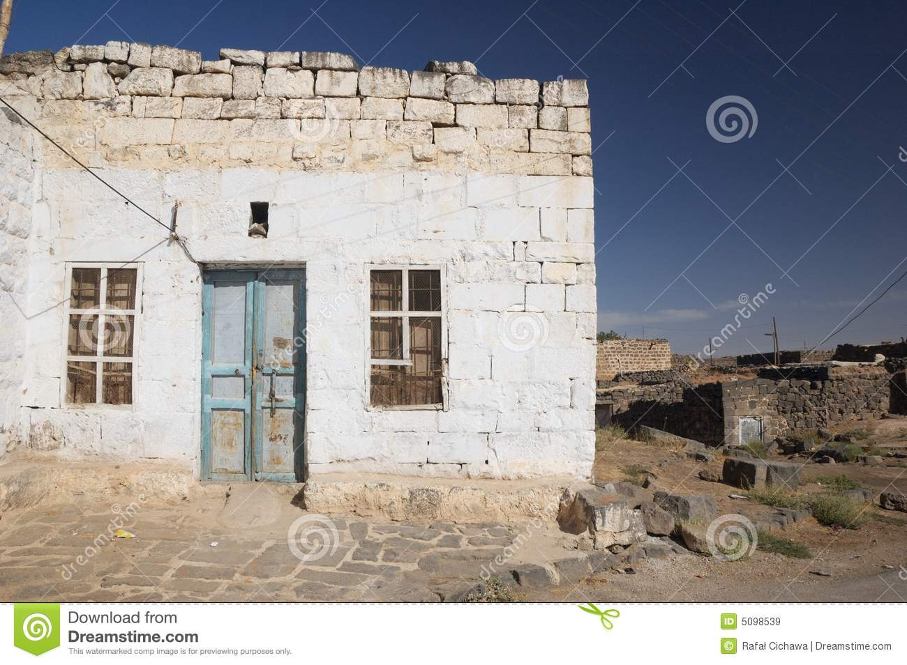 Arabic House Bosra Syria Royalty Free Stock Images
