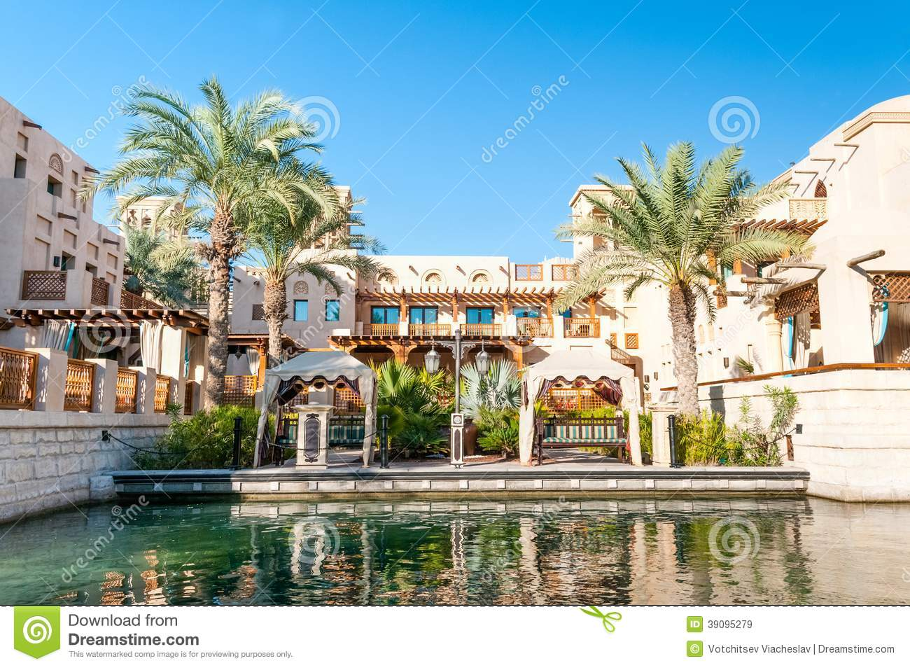 Arabic house with palms in dubai editorial stock image Style house fashion trading company uae