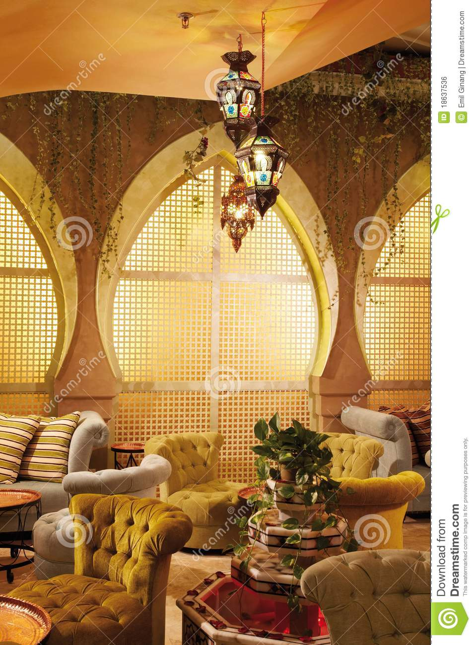 Arabic Interior Stock Photo Image Of Living Decorations
