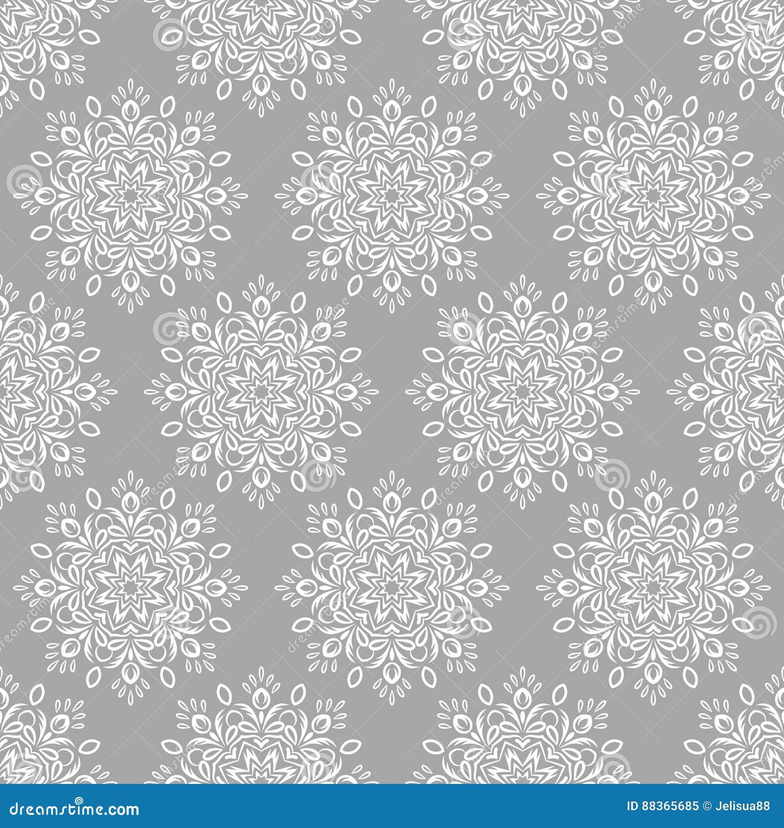Arabic Islamic Indian Seamless Pattern Stock Vector Illustration