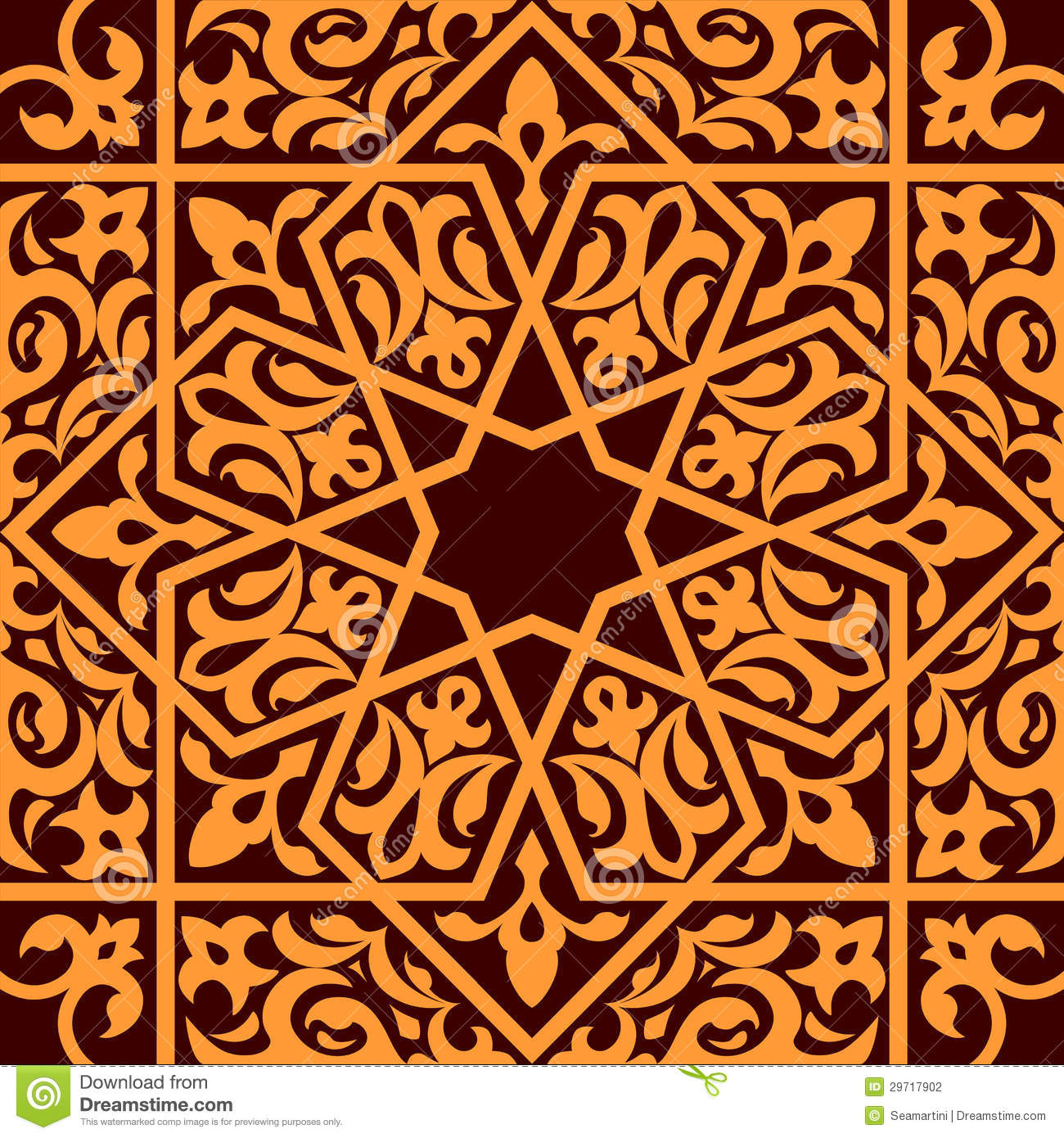 arabic and islamic seamless stock photography image