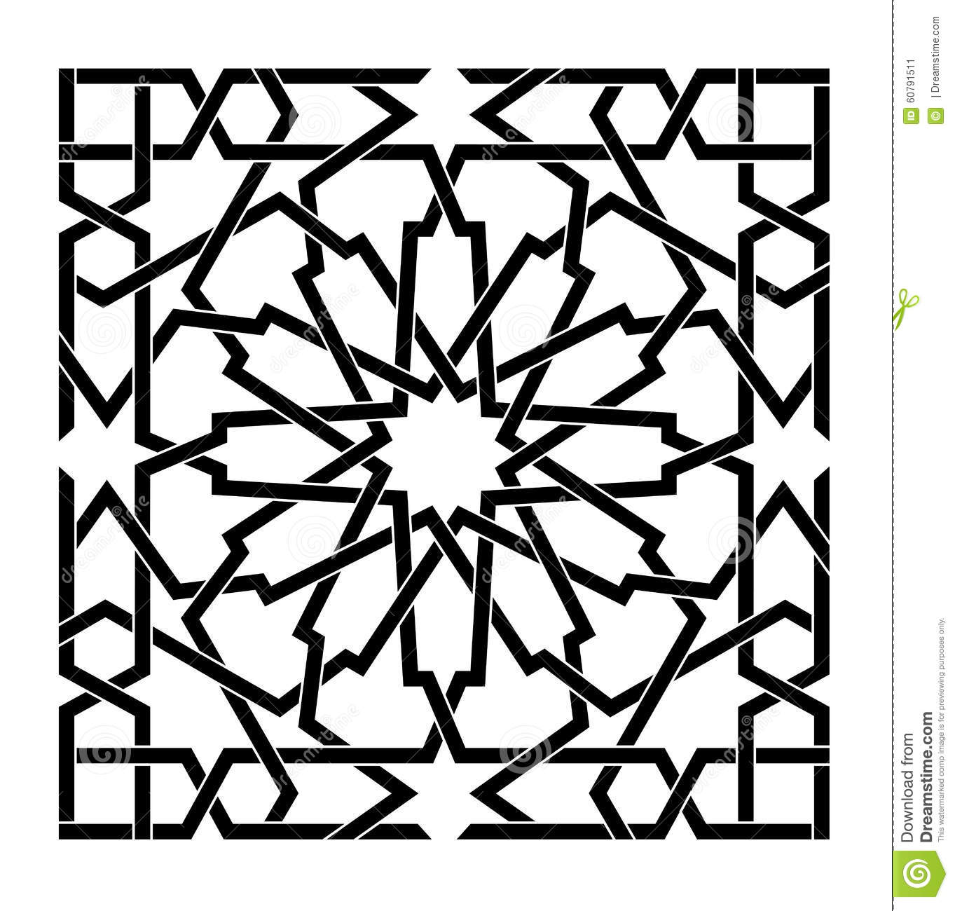 EPS Illustration - Hookah with arabic pattern. Vector Clipart gg - GoGraph
