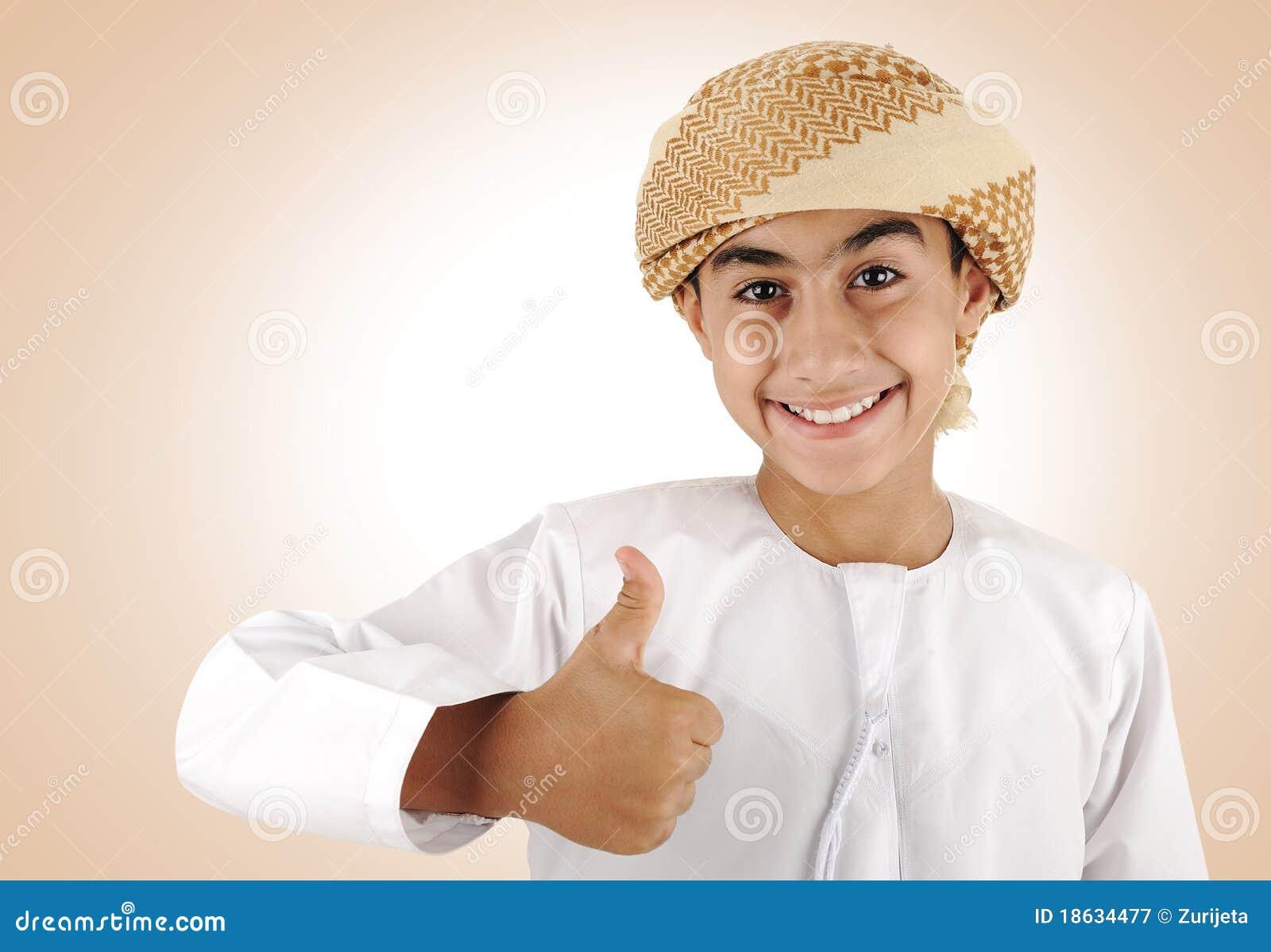 Arabic kid ,thumb up