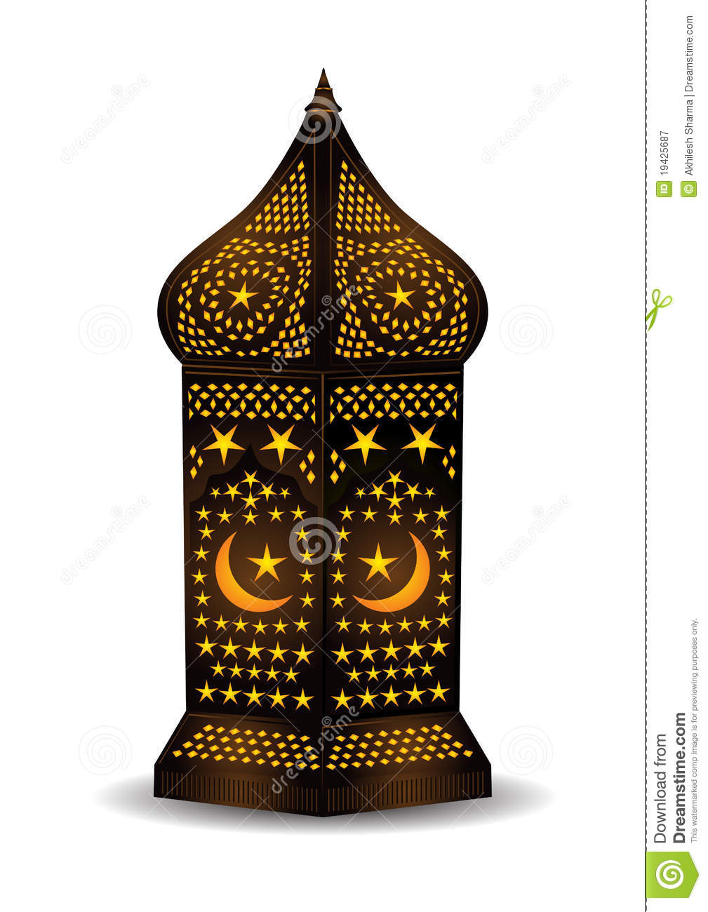 Arabic Lantern For Eid Or Ramadan Celebration Royalty Free Stock ...