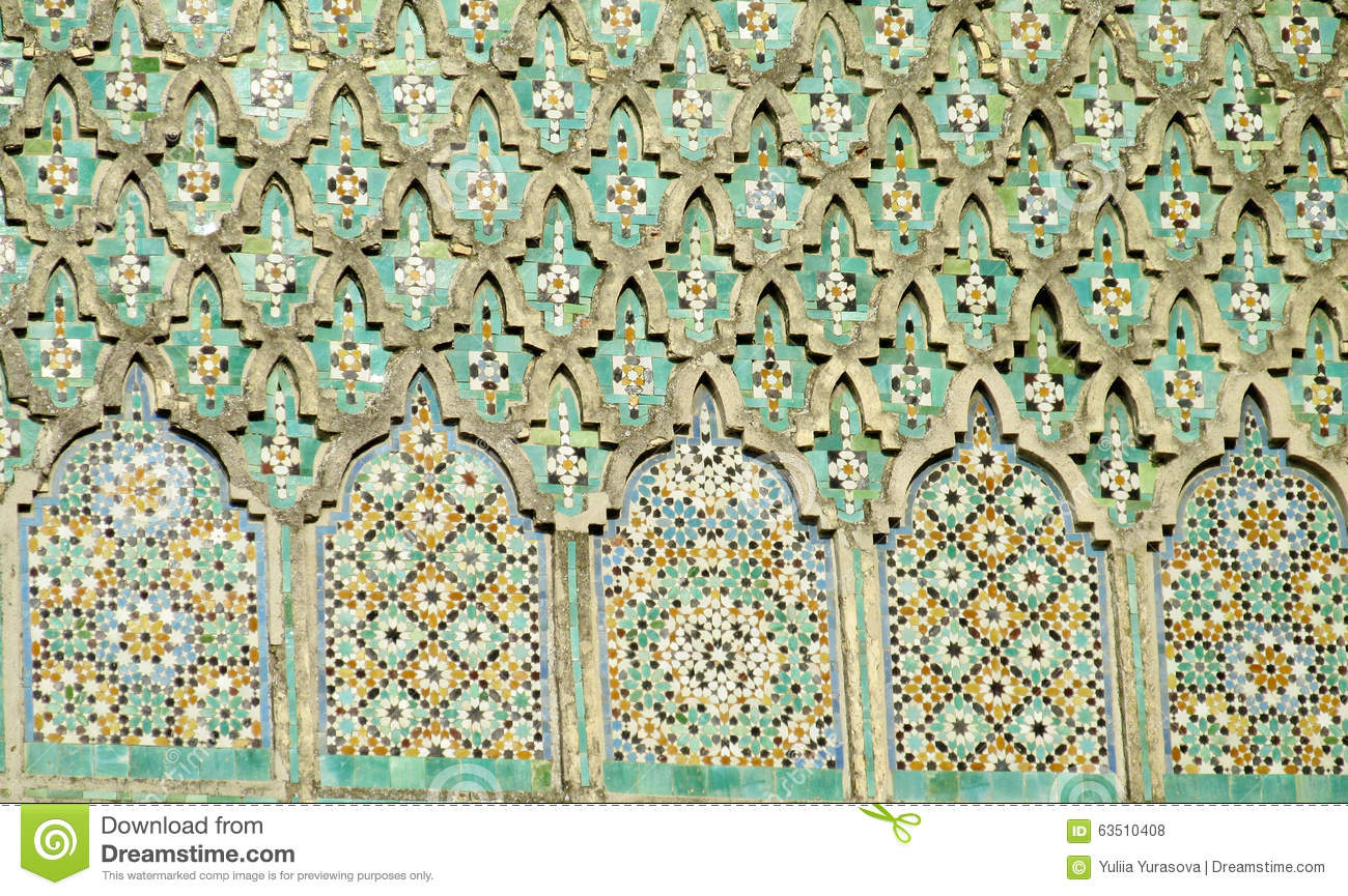 Arabic Mosaic Ornament Decoration Stock Photo Image