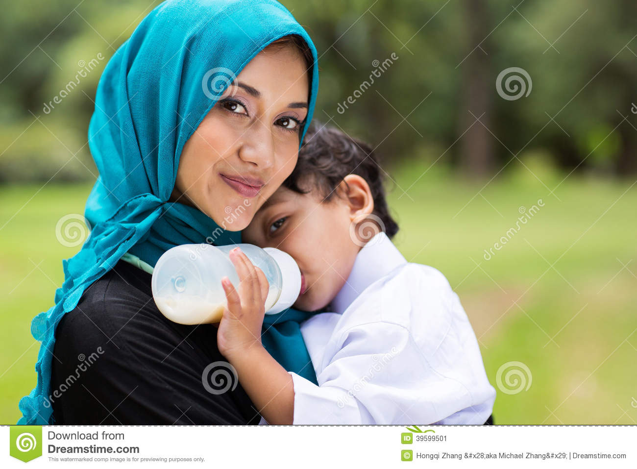 Arabic mother baby