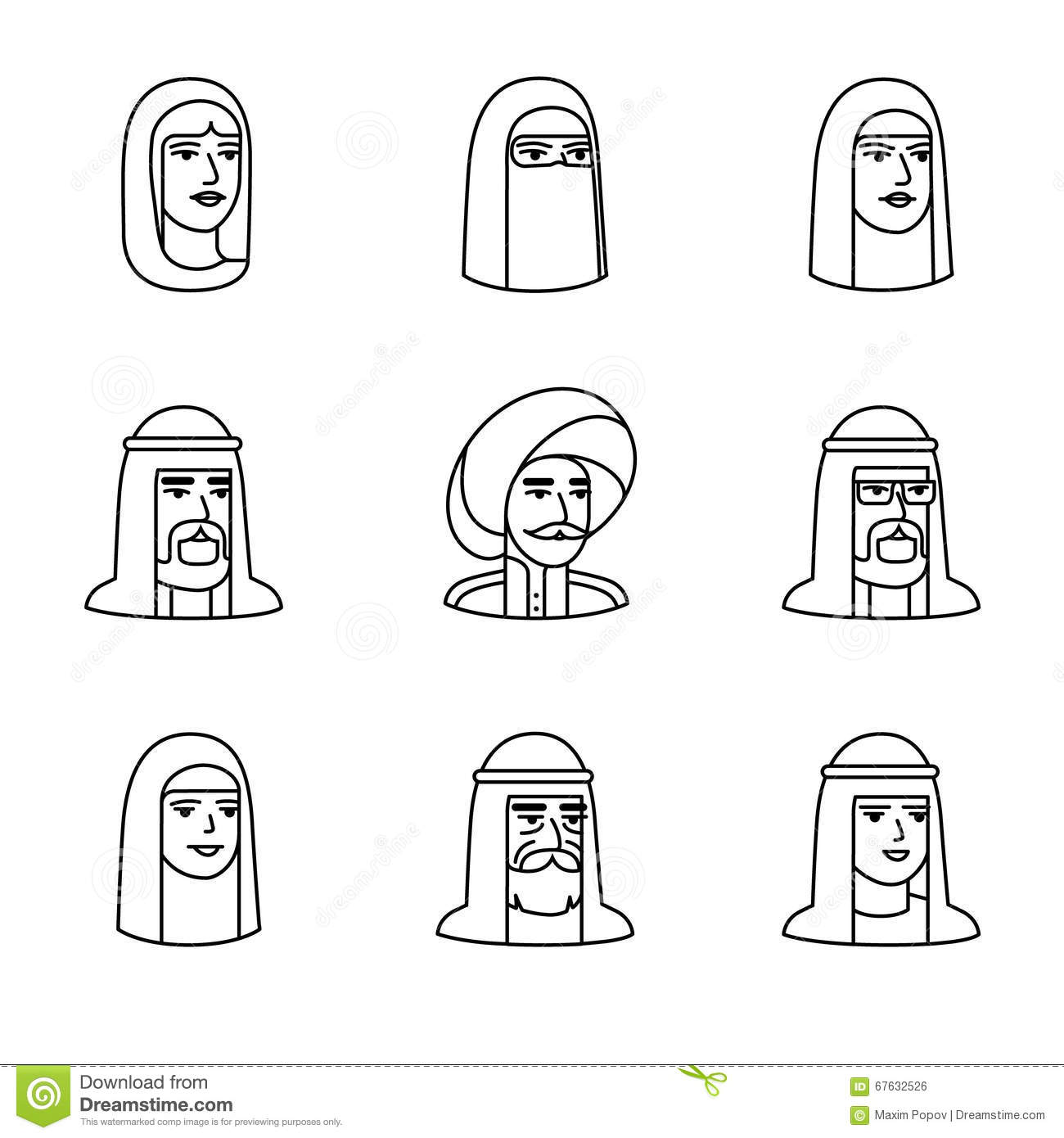Arabic and muslim people faces stock photo image 67632526 arabic and muslim people faces biocorpaavc