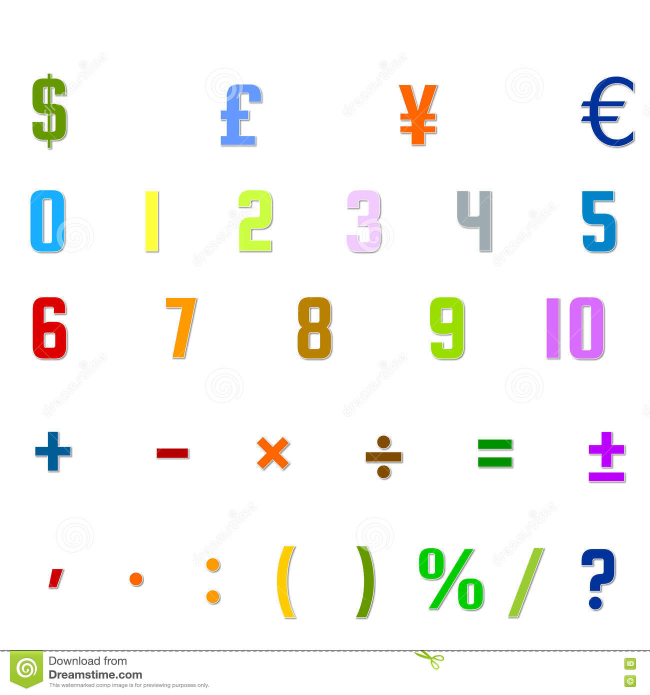Arabic numbers arithmetic operations and currencies symbols stock arabic numbers arithmetic operations and currencies symbols font playing buycottarizona Gallery