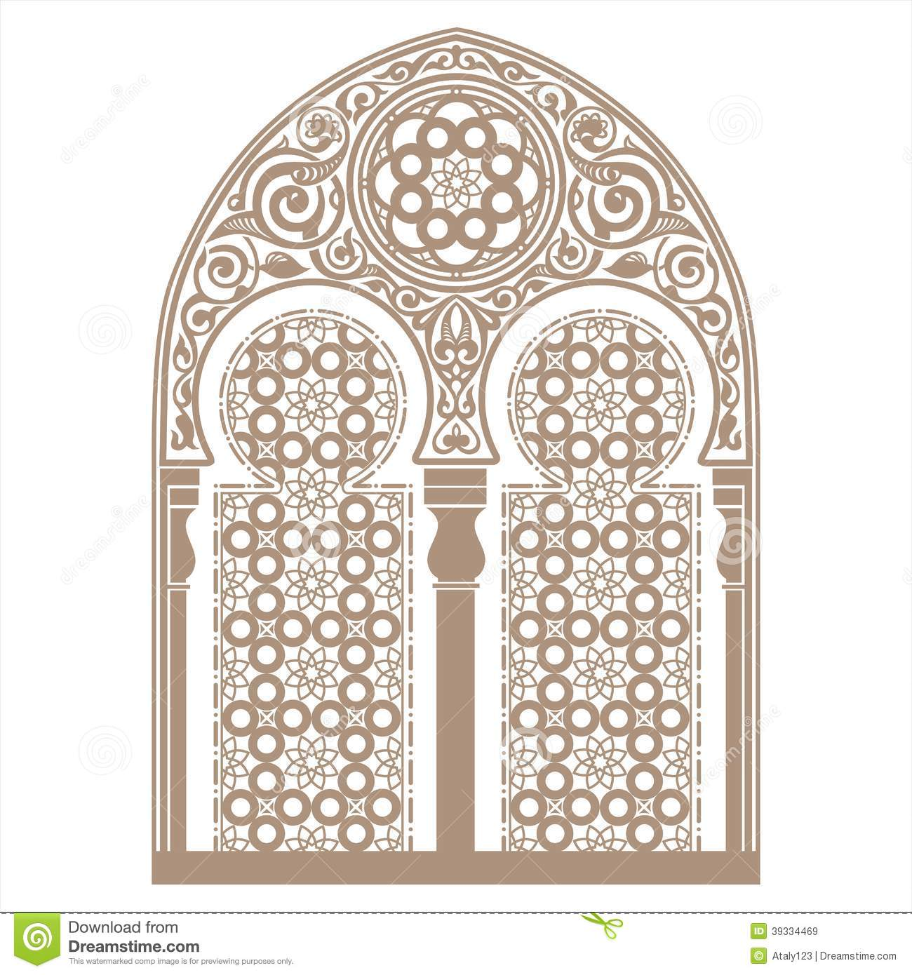 Arabic Ornament Stock Vector Image 39334469