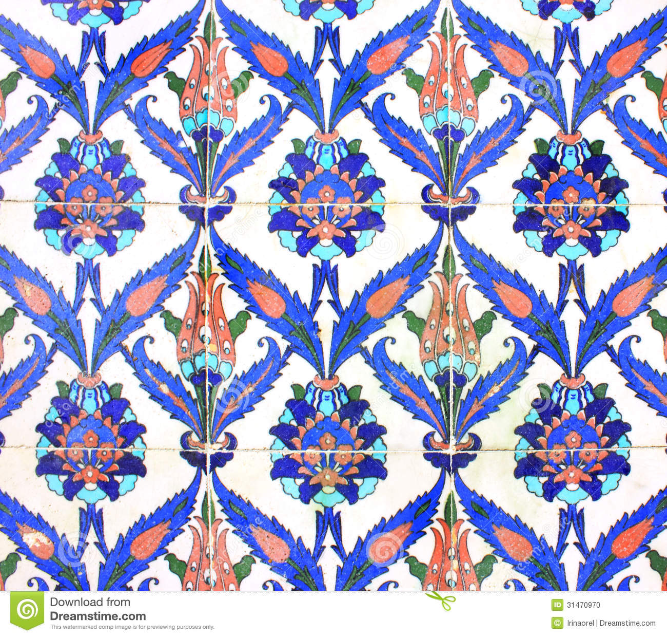 Arabic Ornament On Ceramic Tiles Stock Photo Image 31470970