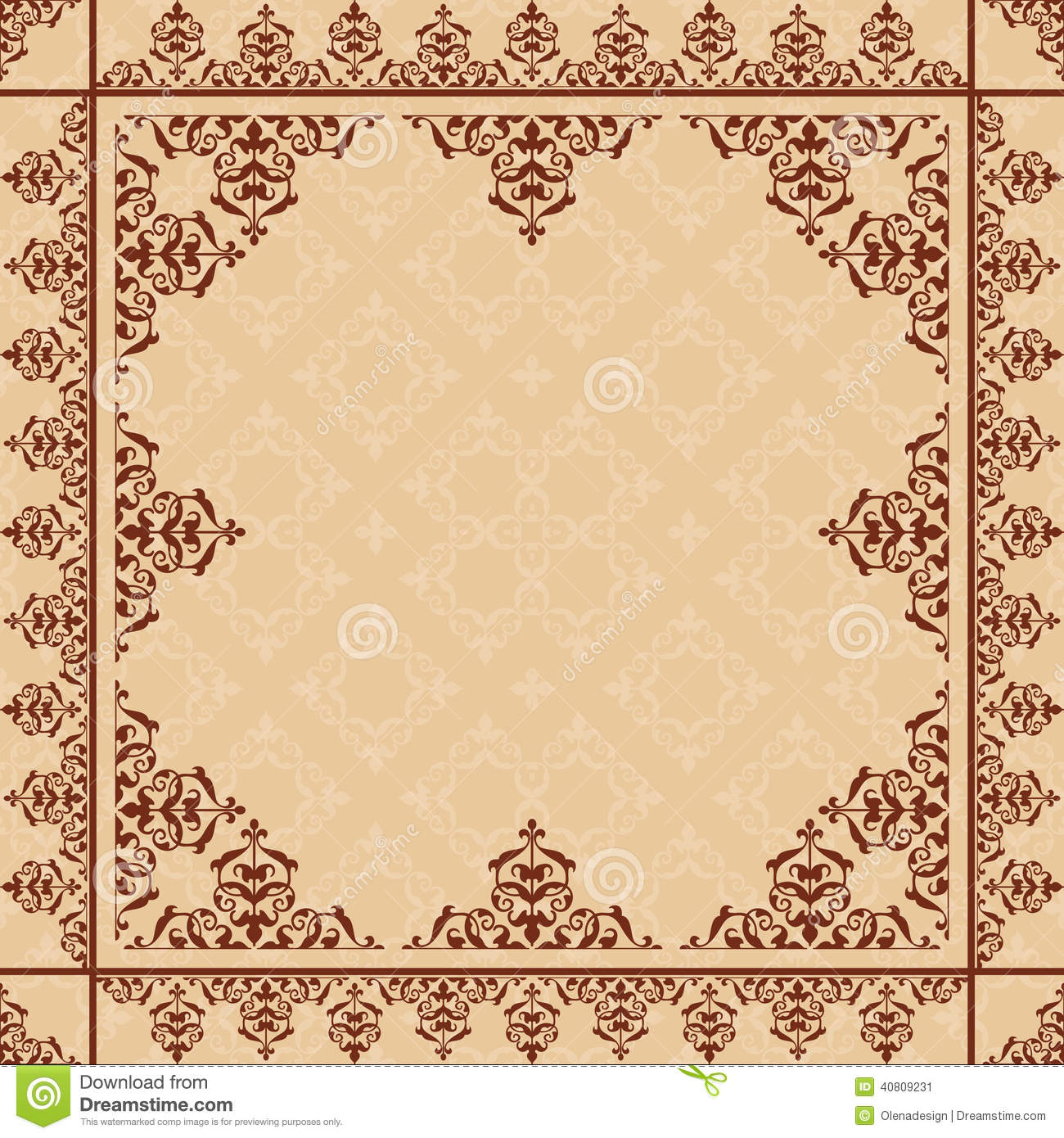arabic ornament on light beige vector pattern stock vector illustration of ornament line 40809231 dreamstime com