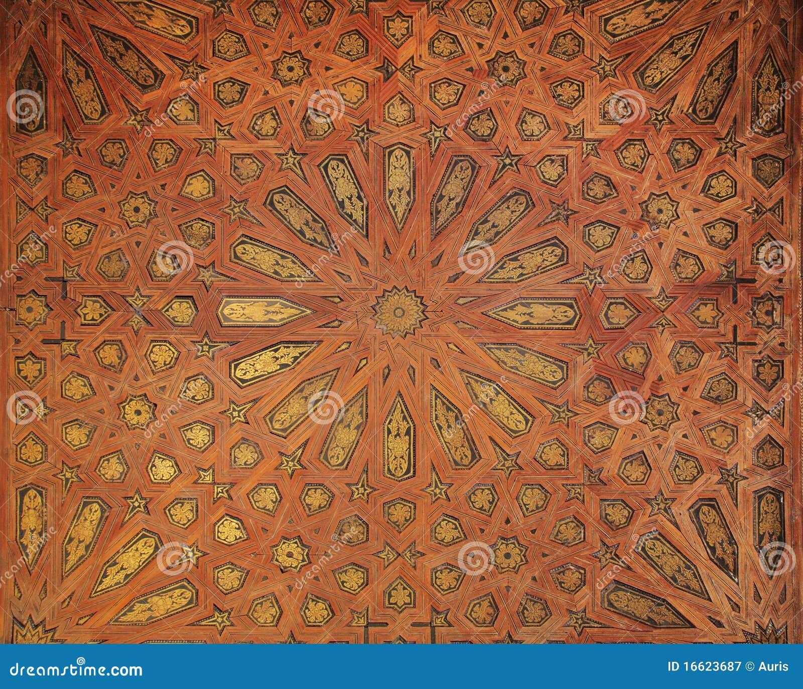 Arabic pattern at Alhambra palace