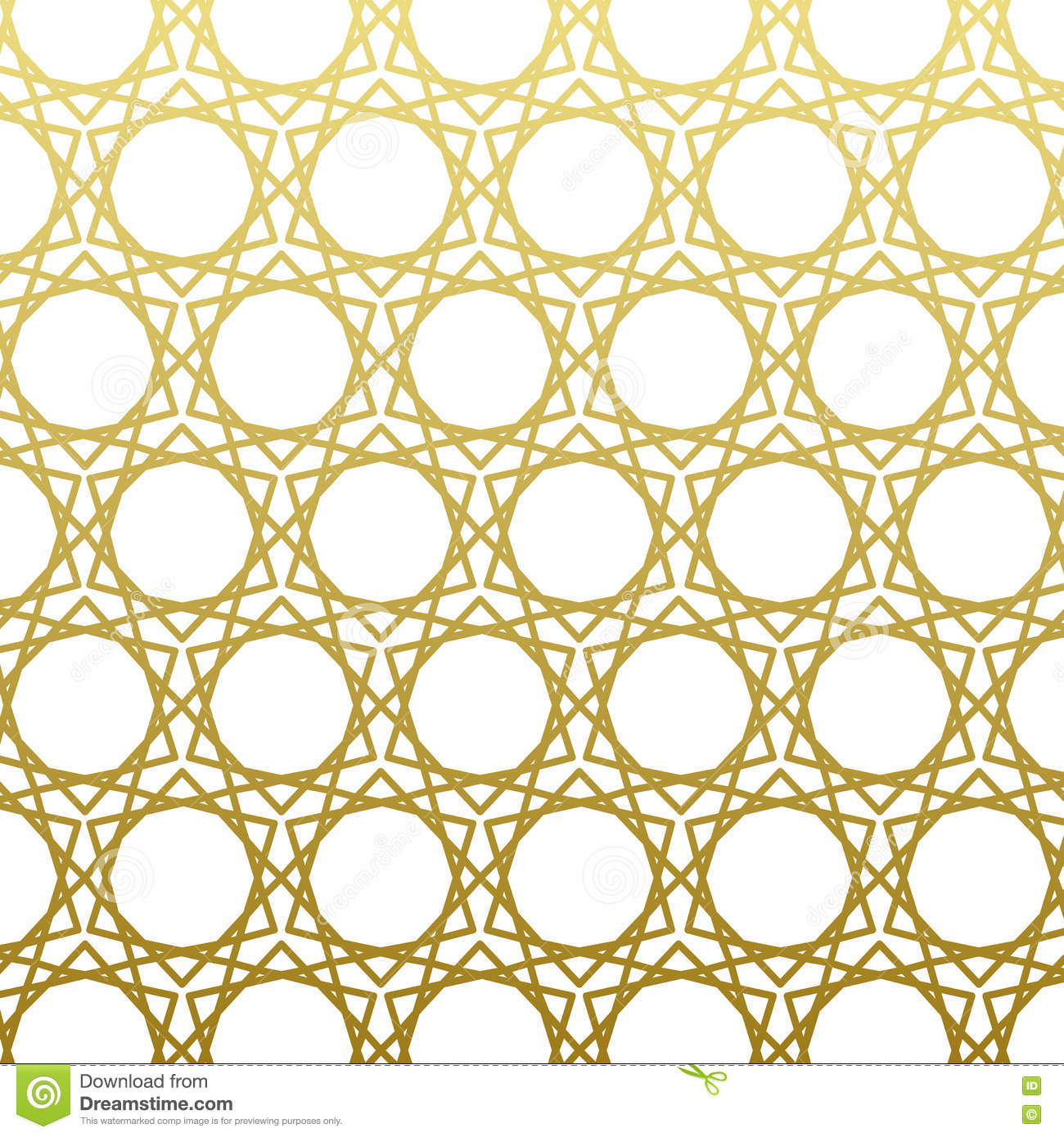 Arabic Pattern Gold Style Traditional East Geometric