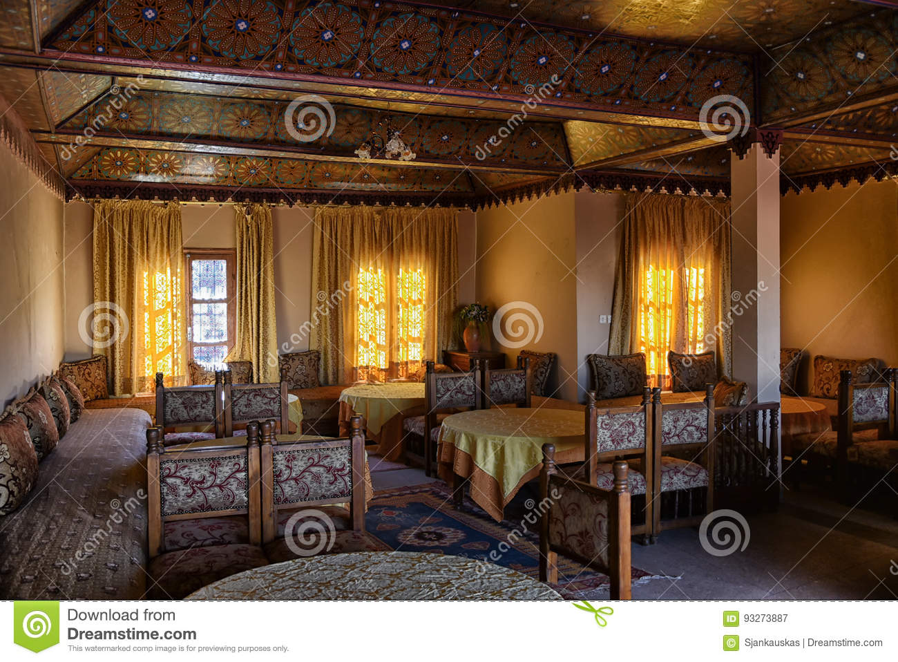 Arabic restaurant morocco stock image of cuisine