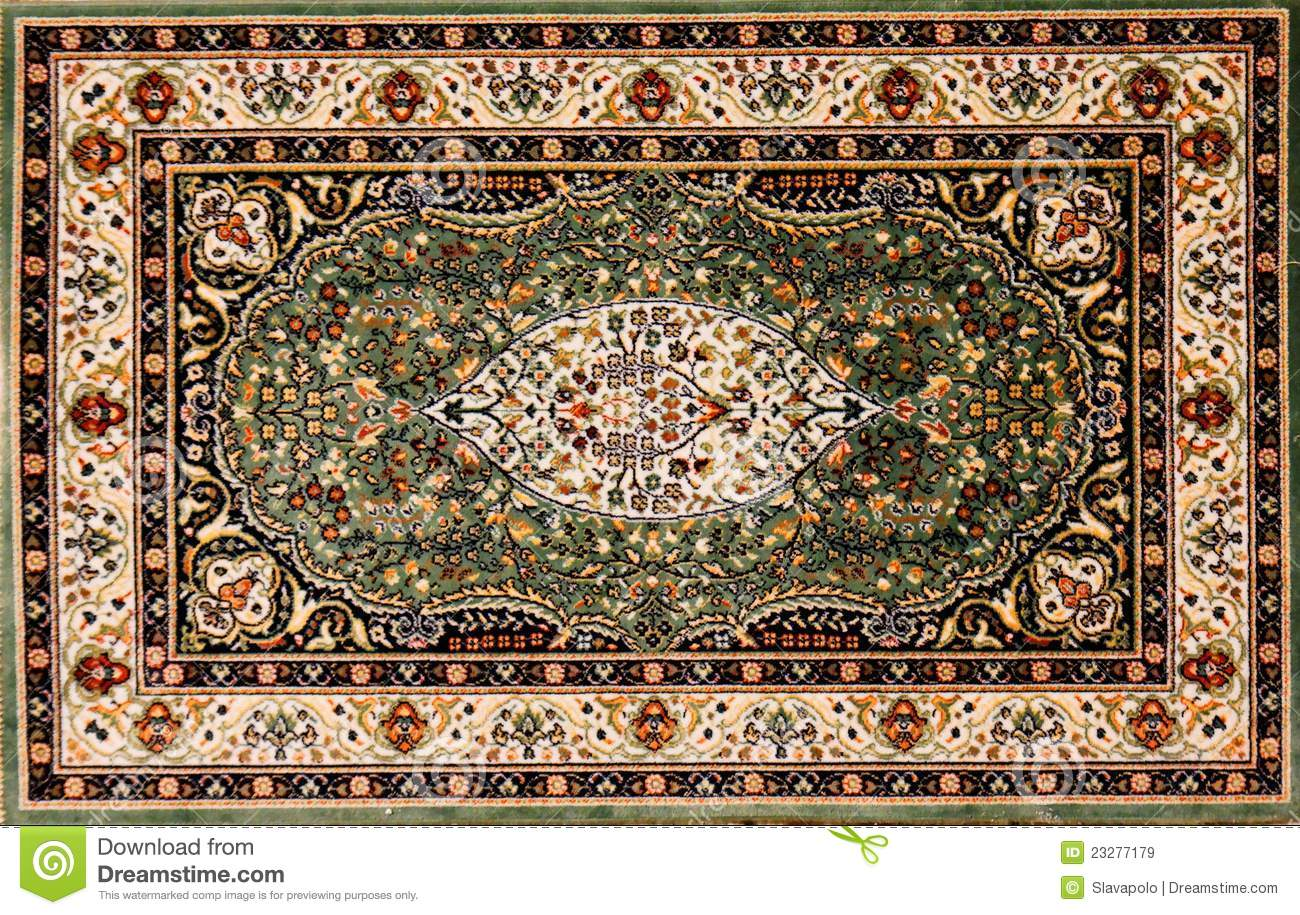 Arabic Rug With Floral Pattern Stock Image Image Of