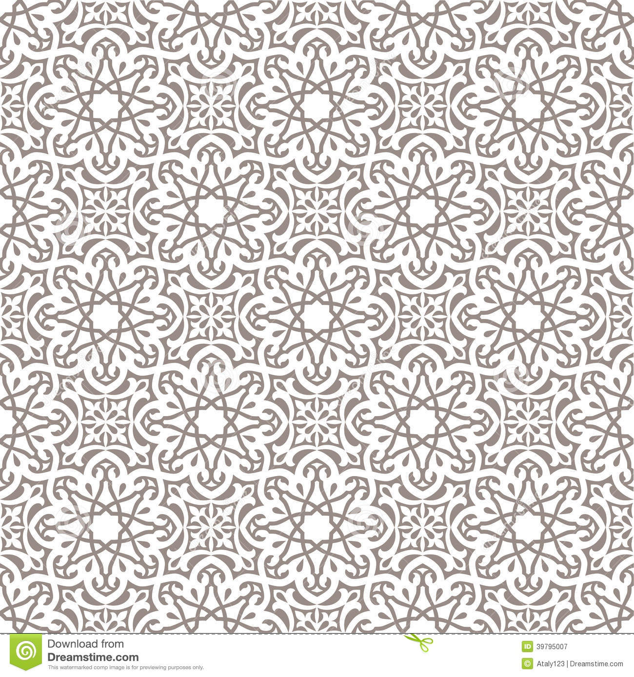 Arabic Seamless Ornament Stock Vector Illustration Of