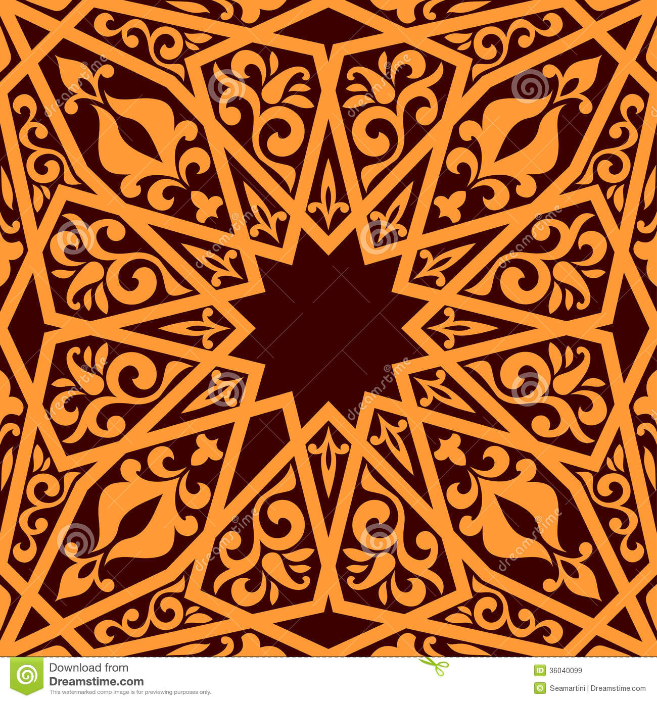 Arabic seamless pattern stock vector. Illustration of