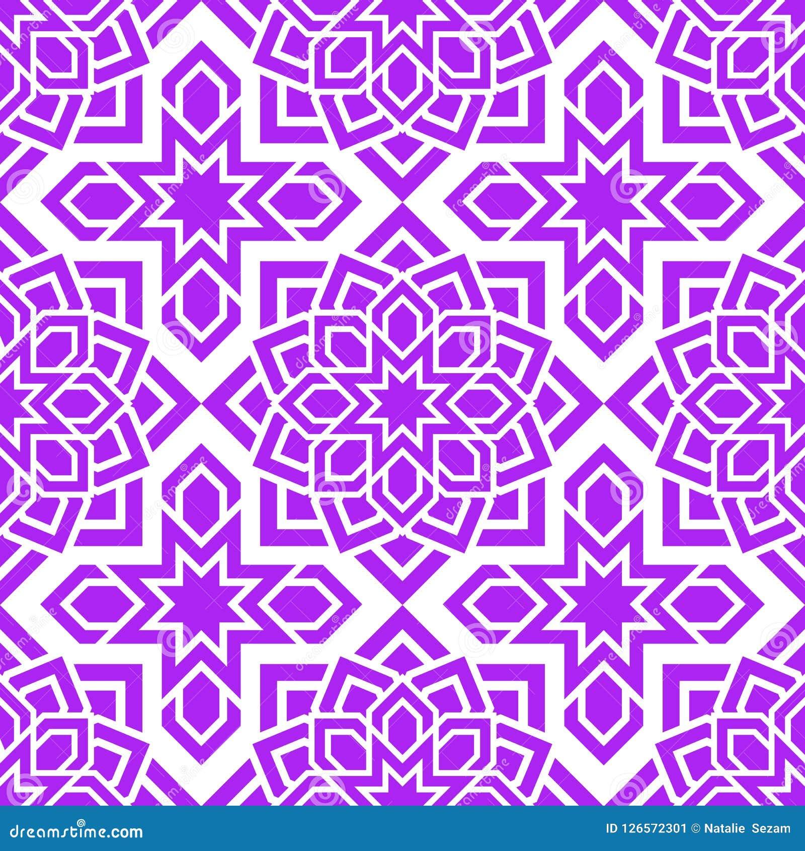 e0bea09e3a9c Arabic seamless pattern. Islamic geometric background. Vector eastern  texture. Flowers decor elements.