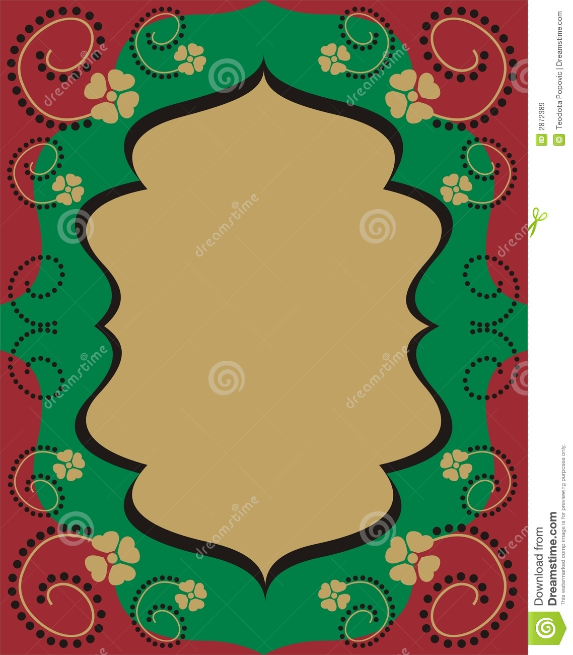 Arabic Style Frame Stock Vector Image Of Abstract Flower