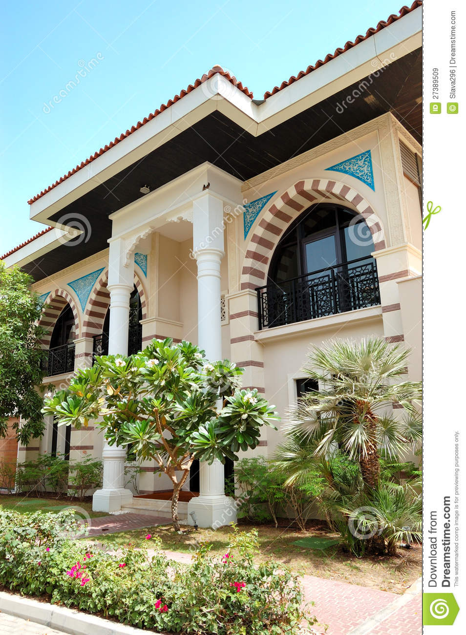 The Arabic Style Modern Villa At Luxury Hotel Royalty Free Stock Images - Image: 27389509
